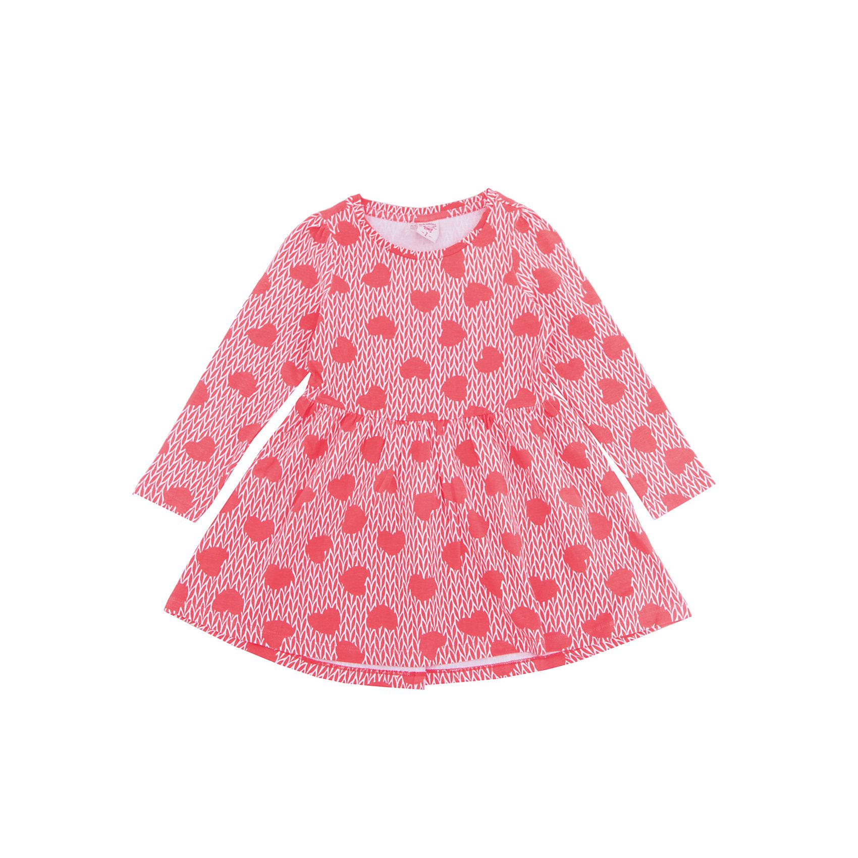 Платье для девочки SELAВесенняя капель<br>Характеристики товара:<br><br>• цвет: розовый<br>• состав: 95% хлопок, 5% эластан<br>• декорировано принтом<br>• приталенное<br>• длинные рукава<br>• длина выше колен<br>• силуэт расширенный к низу<br>• коллекция весна-лето 2017<br>• страна бренда: Российская Федерация<br>• страна изготовитель: Бангладеш<br><br>В новой коллекции SELA отличные модели одежды! Это платье для девочки поможет разнообразить гардероб ребенка и обеспечить комфорт. Оно отлично сочетается с различной обувью. Стильная и удобная вещь!<br><br>Одежда, обувь и аксессуары от российского бренда SELA не зря пользуются большой популярностью у детей и взрослых! Модели этой марки - стильные и удобные, цена при этом неизменно остается доступной. Для их производства используются только безопасные, качественные материалы и фурнитура. Новая коллекция поддерживает хорошие традиции бренда! <br><br>Платье для девочки от популярного бренда SELA (СЕЛА) можно купить в нашем интернет-магазине.<br><br>Ширина мм: 236<br>Глубина мм: 16<br>Высота мм: 184<br>Вес г: 177<br>Цвет: розовый<br>Возраст от месяцев: 60<br>Возраст до месяцев: 72<br>Пол: Женский<br>Возраст: Детский<br>Размер: 116,92,98,104,110<br>SKU: 5305286