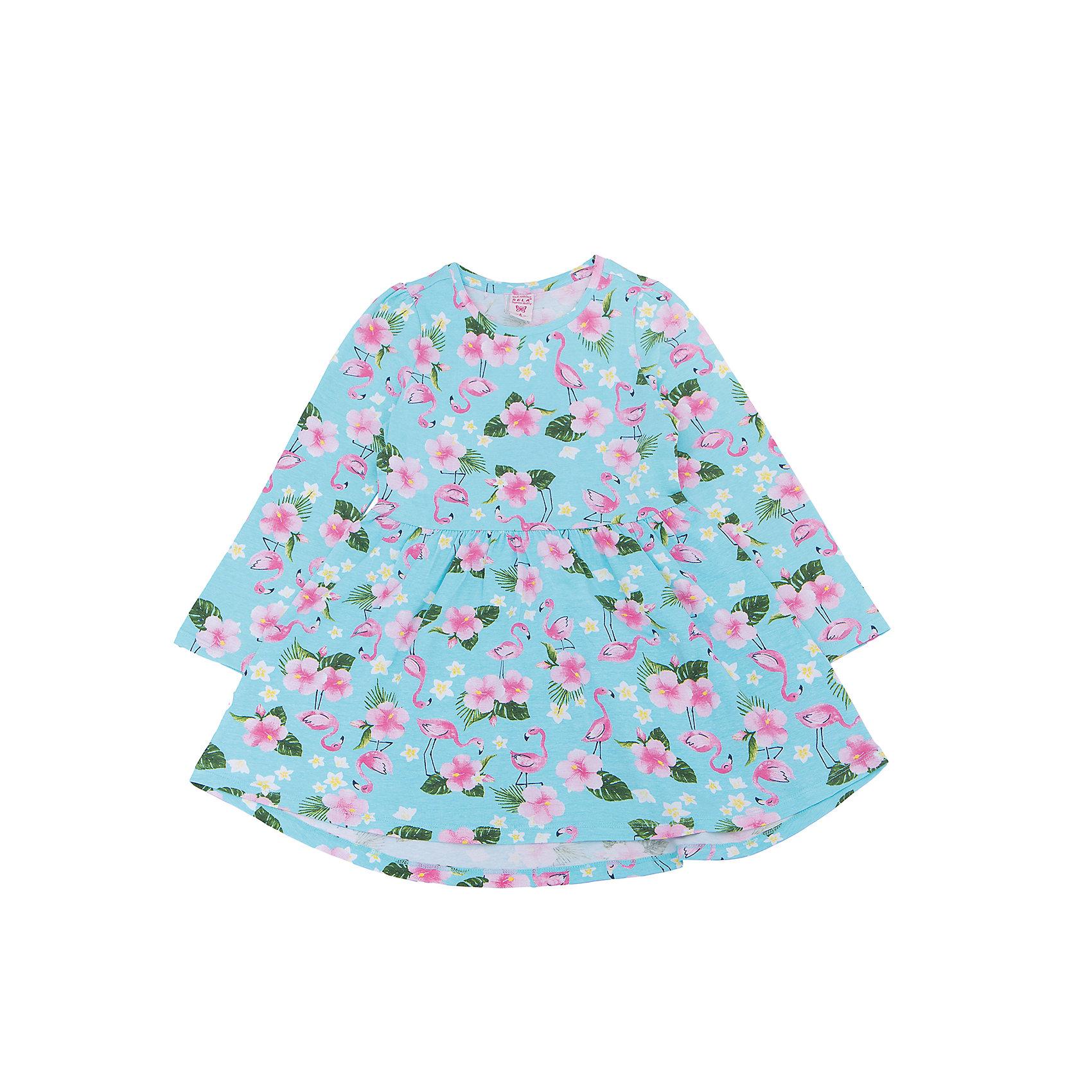 Платье для девочки SELAВесенняя капель<br>Характеристики товара:<br><br>• цвет: голубой<br>• состав: 95% хлопок, 5% эластан<br>• декорировано принтом<br>• приталенное<br>• длинные рукава<br>• длина выше колен<br>• силуэт расширенный к низу<br>• коллекция весна-лето 2017<br>• страна бренда: Российская Федерация<br>• страна изготовитель: Бангладеш<br><br>В новой коллекции SELA отличные модели одежды! Это платье для девочки поможет разнообразить гардероб ребенка и обеспечить комфорт. Оно отлично сочетается с различной обувью. Стильная и удобная вещь!<br><br>Одежда, обувь и аксессуары от российского бренда SELA не зря пользуются большой популярностью у детей и взрослых! Модели этой марки - стильные и удобные, цена при этом неизменно остается доступной. Для их производства используются только безопасные, качественные материалы и фурнитура. Новая коллекция поддерживает хорошие традиции бренда! <br><br>Платье для девочки от популярного бренда SELA (СЕЛА) можно купить в нашем интернет-магазине.<br><br>Ширина мм: 236<br>Глубина мм: 16<br>Высота мм: 184<br>Вес г: 177<br>Цвет: голубой<br>Возраст от месяцев: 60<br>Возраст до месяцев: 72<br>Пол: Женский<br>Возраст: Детский<br>Размер: 116,92,98,104,110<br>SKU: 5305292