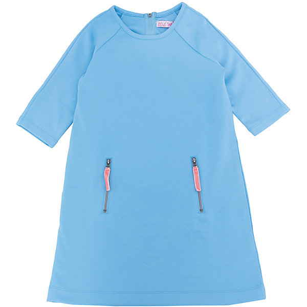Платье для девочки SELAПлатья и сарафаны<br>Характеристики:<br><br>• Вид детской и подростковой одежды: платье<br>• Пол: для девочки<br>• Предназначение: повседневная, праздничная<br>• Сезон: круглый год<br>• Тематика рисунка: без рисунка<br>• Цвет: голубой <br>• Материал: 60% вискоза, 35% полиэстер, 5% эластан<br>• Силуэт: полуприлегающий<br>• Рукав: реглан, 3/4<br>• Воротник: круглый<br>• Застежка: молния сзади<br>• На передней полочке имеются карманы на молнии<br>• Длина платья: мини<br>• Особенности ухода: ручная стирка при температуре не более 30 градусов, глажение на щадящем режиме<br><br>Платье для девочки SELA из коллекции детской и подростковой одежды от знаменитого торгового бренда, который производит удобную, комфортную и стильную одежду, предназначенную как для будней, так и для праздников. Изделие выполнено из трикотажного полотна, в состав которого входит вискоза, полиэстер и эластан, что обеспечивает платью повышенную устойчивость к изменению формы и цвета. Платье выполнено в классическом стиле: полуприлегающий силуэт, рукав реглан 3/4 круглый воротник. Изделие выполнено в нежном небесном цвете, декорировано застежками молниями. <br><br>Платье для девочки SELA можно купить в нашем интернет-магазине.<br><br>Ширина мм: 236<br>Глубина мм: 16<br>Высота мм: 184<br>Вес г: 177<br>Цвет: голубой<br>Возраст от месяцев: 120<br>Возраст до месяцев: 132<br>Пол: Женский<br>Возраст: Детский<br>Размер: 134,140,152,116,122,128,146<br>SKU: 5305332