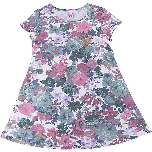 Платье для девочки SELAПлатья и сарафаны<br>Характеристики:<br><br>• Вид детской и подростковой одежды: платье<br>• Пол: для девочки<br>• Предназначение: повседневная, праздничная<br>• Сезон: лето<br>• Тематика рисунка: цветочный принт<br>• Цвет: мультиколор<br>• Материал: 65% хлопок, 35% полиэстер<br>• Силуэт: А-силуэт<br>• Рукав: короткий<br>• Горловина: круглая<br>• Длина платья: мини<br>• Особенности ухода: ручная стирка при температуре не более 30 градусов, глажение на щадящем режиме<br><br>Платье для девочки SELA из коллекции детской и подростковой одежды от знаменитого торгового бренда, который производит удобную, комфортную и стильную одежду, предназначенную как для будней, так и для праздников. Изделие выполнено из легкого трикотажного полотна, в состав которого входит хлопок и полиэстер, что обеспечивает платью повышенные гипоаллергенные и гигроскопичные свойства. Платье выполнено в классическом стиле: А-силуэт, короткий втачной рукав и круглая горловина. Изделие выполнено из ткани в крупный цветочный принт. Платье для девочки SELA может быть как самостоятельным предметом гардероба, так и хорошо будет сочетаться с леггинсами.<br><br>Платье для девочки SELA можно купить в нашем интернет-магазине.<br>Ширина мм: 236; Глубина мм: 16; Высота мм: 184; Вес г: 177; Цвет: белый; Возраст от месяцев: 60; Возраст до месяцев: 72; Пол: Женский; Возраст: Детский; Размер: 116,98,110,104; SKU: 5305340;
