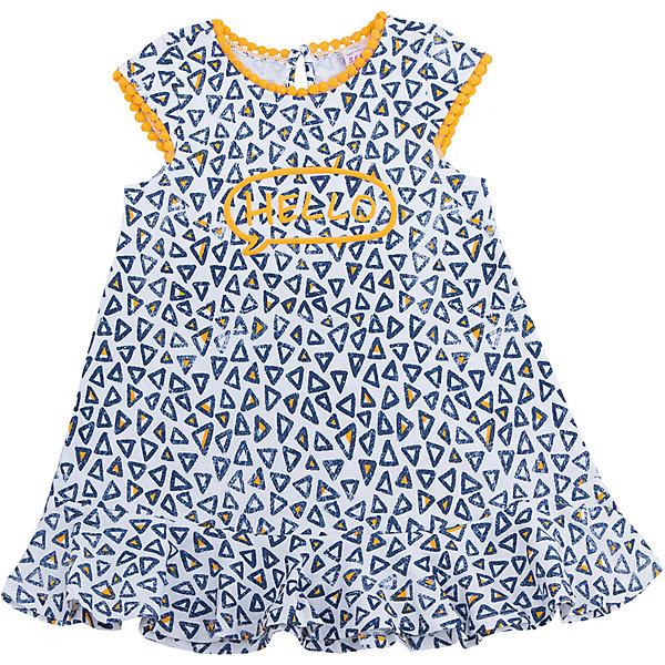 Платье для девочки SELAПлатья и сарафаны<br>Характеристики товара:<br><br>• цвет: синий<br>• сезон: лето<br>• состав: 100% хлопок<br>• принт<br>• длина выше колена<br>• корткие рукава<br>• страна бренда: Россия<br><br>В новой коллекции SELA отличные модели одежды! Это платье для девочки поможет разнообразить гардероб ребенка и обеспечить комфорт. Оно отлично сочетается с различной обувью.<br><br>Одежда, обувь и аксессуары от российского бренда SELA не зря пользуются большой популярностью у детей и взрослых! <br><br>Платье для девочки от популярного бренда SELA (СЕЛА) можно купить в нашем интернет-магазине.<br>Ширина мм: 236; Глубина мм: 16; Высота мм: 184; Вес г: 177; Цвет: желтый; Возраст от месяцев: 36; Возраст до месяцев: 48; Пол: Женский; Возраст: Детский; Размер: 104,98,92,116,110; SKU: 5305345;
