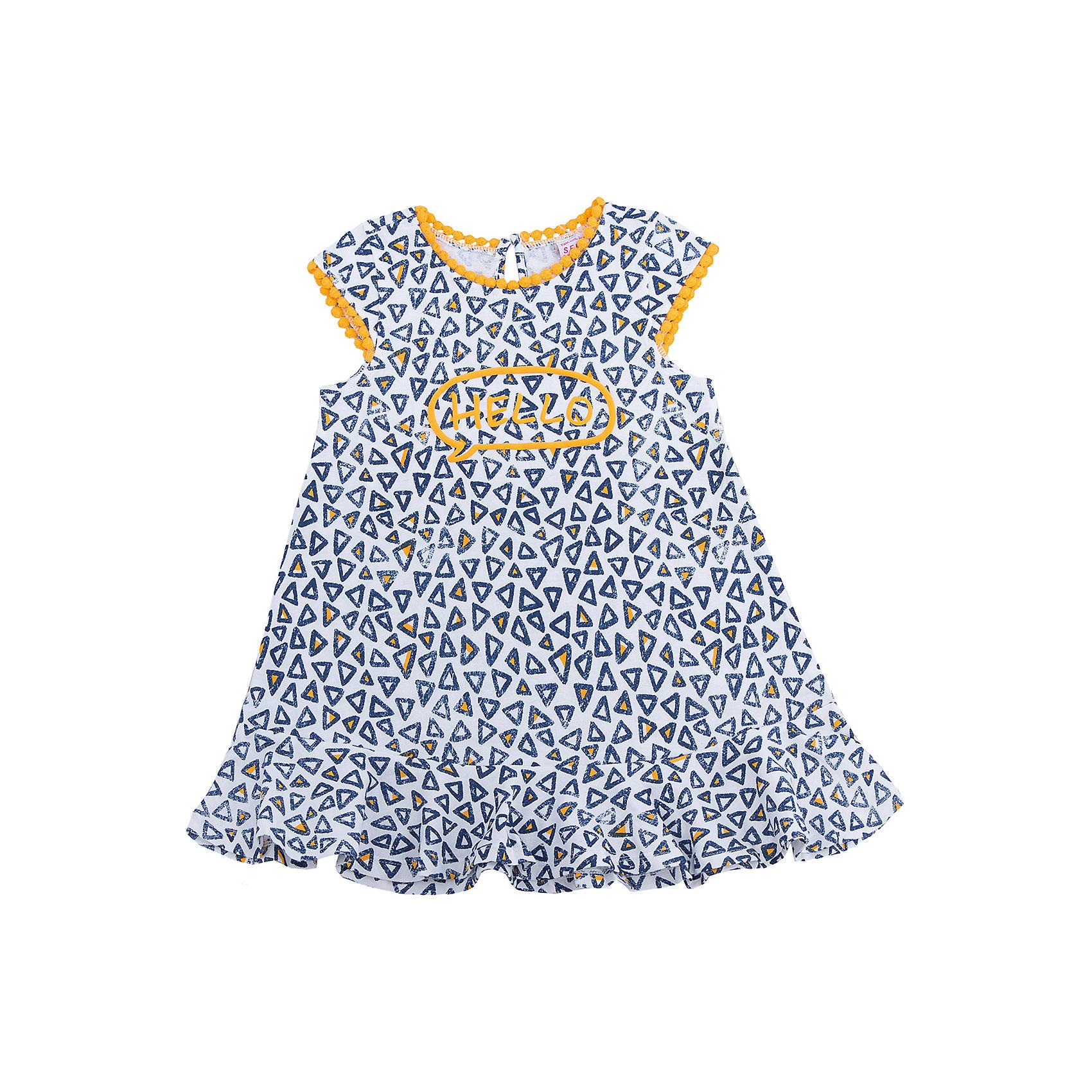Платье для девочки SELAПлатья и сарафаны<br>Характеристики товара:<br><br>• цвет: синий<br>• сезон: лето<br>• состав: 100% хлопок<br>• принт<br>• длина выше колена<br>• корткие рукава<br>• страна бренда: Россия<br><br>В новой коллекции SELA отличные модели одежды! Это платье для девочки поможет разнообразить гардероб ребенка и обеспечить комфорт. Оно отлично сочетается с различной обувью.<br><br>Одежда, обувь и аксессуары от российского бренда SELA не зря пользуются большой популярностью у детей и взрослых! <br><br>Платье для девочки от популярного бренда SELA (СЕЛА) можно купить в нашем интернет-магазине.<br><br>Ширина мм: 236<br>Глубина мм: 16<br>Высота мм: 184<br>Вес г: 177<br>Цвет: желтый<br>Возраст от месяцев: 60<br>Возраст до месяцев: 72<br>Пол: Женский<br>Возраст: Детский<br>Размер: 116,92,98,104,110<br>SKU: 5305345