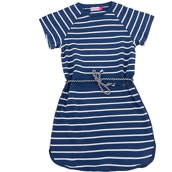 Платье для девочки SELAПлатья и сарафаны<br>Характеристики товара:<br><br>• цвет: синий<br>• цвет: белый в полоску<br>• состав: 100% хлопок<br>• сезон: лето<br>• длина выше колена<br>• корткие рукава<br>• комфортная посадка<br>• страна бренда: Россия<br><br>Платье для девочки из хлопка позволит телу дышать и комфортно себя чувствоватиь во время прогулок.  Оно отлично сочетается с босоножками, сандалями или туфельками. Стильная и удобная вещь!<br><br>Одежда, обувь и аксессуары от российского бренда SELA не зря пользуются большой популярностью у детей и взрослых!<br><br>Платье для девочки от популярного бренда SELA (СЕЛА) можно купить в нашем интернет-магазине.<br>Ширина мм: 236; Глубина мм: 16; Высота мм: 184; Вес г: 177; Цвет: синий; Возраст от месяцев: 96; Возраст до месяцев: 108; Пол: Женский; Возраст: Детский; Размер: 134,140,128,122,152,146; SKU: 5305385;
