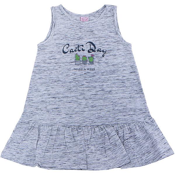 Платье для девочки SELAПлатья и сарафаны<br>Характеристики товара:<br><br>• цвет: светло-серый<br>• сезон: лето<br>• состав: 60% хлопок, 40% ПЭ<br>• силуэт расширенный к низу<br>• длина выше колена<br>• принт<br>• комфортная посадка<br>• страна бренда: Россия<br><br>Платье для девочки поможет разнообразить гардероб ребенка и обеспечить комфорт. Оно отлично сочетается с сандалями или кедами. <br><br>Одежда, обувь и аксессуары от российского бренда SELA не зря пользуются большой популярностью у детей и взрослых! Модели этой марки - стильные и удобные, цена при этом неизменно остается доступной. <br><br>Для их производства используются только безопасные, качественные материалы и фурнитура. Новая коллекция поддерживает хорошие традиции бренда! <br><br>Платье для девочки от популярного бренда SELA (СЕЛА) можно купить в нашем интернет-магазине.<br>Ширина мм: 236; Глубина мм: 16; Высота мм: 184; Вес г: 177; Цвет: серый; Возраст от месяцев: 60; Возраст до месяцев: 72; Пол: Женский; Возраст: Детский; Размер: 116,98,110,104; SKU: 5305406;