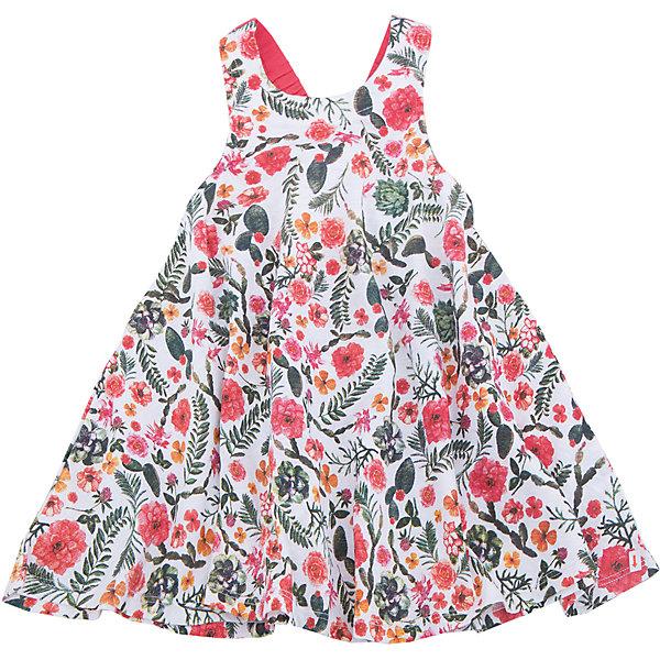 Сарафан для девочки SELAПлатья и сарафаны<br>Характеристики товара:<br><br>• цвет: мульти<br>• сезон: лето<br>• состав: 60% хлопок, 40% ПЭ<br>• силуэт расширенный к низу<br>• длина выше колена<br>• принт<br>• комфортная посадка<br>• страна бренда: Россия<br><br>Платье для девочки поможет разнообразить гардероб ребенка и обеспечить комфорт. <br>Оно отлично сочетается с различной обувью. Стильная и удобная вещь!<br>Одежда, обувь и аксессуары от российского бренда SELA не зря пользуются большой популярностью у детей и взрослых! Модели этой марки - стильные и удобные, цена при этом неизменно остается доступной. Для их производства используются только безопасные, качественные материалы и фурнитура. Новая коллекция поддерживает хорошие традиции бренда! <br><br>Платье для девочки от популярного бренда SELA (СЕЛА) можно купить в нашем интернет-магазине.<br><br>Ширина мм: 236<br>Глубина мм: 16<br>Высота мм: 184<br>Вес г: 177<br>Цвет: белый<br>Возраст от месяцев: 24<br>Возраст до месяцев: 36<br>Пол: Женский<br>Возраст: Детский<br>Размер: 98,116,110,104,92<br>SKU: 5305411