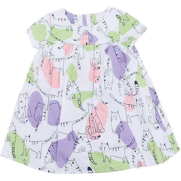 Платье для девочки SELAПлатья и сарафаны<br>Характеристики товара:<br><br>• цвет: белый<br>• состав: 100% хлопок<br>• сезон: лето<br>• принт<br>• длина выше колена<br>• корткие рукава<br>• страна бренда: Россия<br><br>Платье для девочки поможет разнообразить гардероб ребенка и обеспечить комфорт.  Оно отлично сочетается с босоножками, сандалями или туфельками. Стильная и удобная вещь!<br><br>Одежда, обувь и аксессуары от российского бренда SELA не зря пользуются большой популярностью у детей и взрослых!<br><br>Платье для девочки от популярного бренда SELA (СЕЛА) можно купить в нашем интернет-магазине.<br><br>Ширина мм: 236<br>Глубина мм: 16<br>Высота мм: 184<br>Вес г: 177<br>Цвет: белый<br>Возраст от месяцев: 18<br>Возраст до месяцев: 24<br>Пол: Женский<br>Возраст: Детский<br>Размер: 92,116,110,104,98<br>SKU: 5305431
