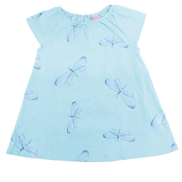 Платье для девочки SELAПлатья и сарафаны<br>Характеристики товара:<br><br>• цвет: голубой<br>• состав: 100% хлопок<br>• сезон: лето<br>• принт<br>• длина выше колена<br>• корткие рукава<br>• страна бренда: Россия<br><br>Платье для девочки поможет разнообразить гардероб ребенка и обеспечить комфорт.  Оно отлично сочетается с босоножками, сандалями или туфельками. Стильная и удобная вещь!<br><br>Одежда, обувь и аксессуары от российского бренда SELA не зря пользуются большой популярностью у детей и взрослых!<br><br>Платье для девочки от популярного бренда SELA (СЕЛА) можно купить в нашем интернет-магазине.<br>Ширина мм: 236; Глубина мм: 16; Высота мм: 184; Вес г: 177; Цвет: зеленый; Возраст от месяцев: 48; Возраст до месяцев: 60; Пол: Женский; Возраст: Детский; Размер: 110,98,116,104; SKU: 5305437;