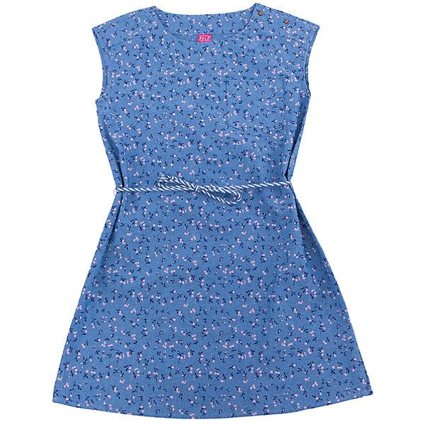 Платье для девочки SELAПлатья и сарафаны<br>Характеристики товара:<br><br>• цвет: синий джинс<br>• состав: 100% хлопок<br>• без рукавов<br>• сезон: лето<br>• принт<br>• длина выше колена<br>• корткие рукава<br>• страна бренда: Россия<br><br>Платье для девочки поможет разнообразить гардероб ребенка и обеспечить комфорт.  Оно отлично сочетается с босоножками, сандалями или туфельками. Стильная и удобная вещь!<br><br>Одежда, обувь и аксессуары от российского бренда SELA не зря пользуются большой популярностью у детей и взрослых!<br><br>Платье для девочки от популярного бренда SELA (СЕЛА) можно купить в нашем интернет-магазине.<br>Ширина мм: 236; Глубина мм: 16; Высота мм: 184; Вес г: 177; Цвет: синий; Возраст от месяцев: 120; Возраст до месяцев: 132; Пол: Женский; Возраст: Детский; Размер: 146,128,134,122,152,140; SKU: 5305473;