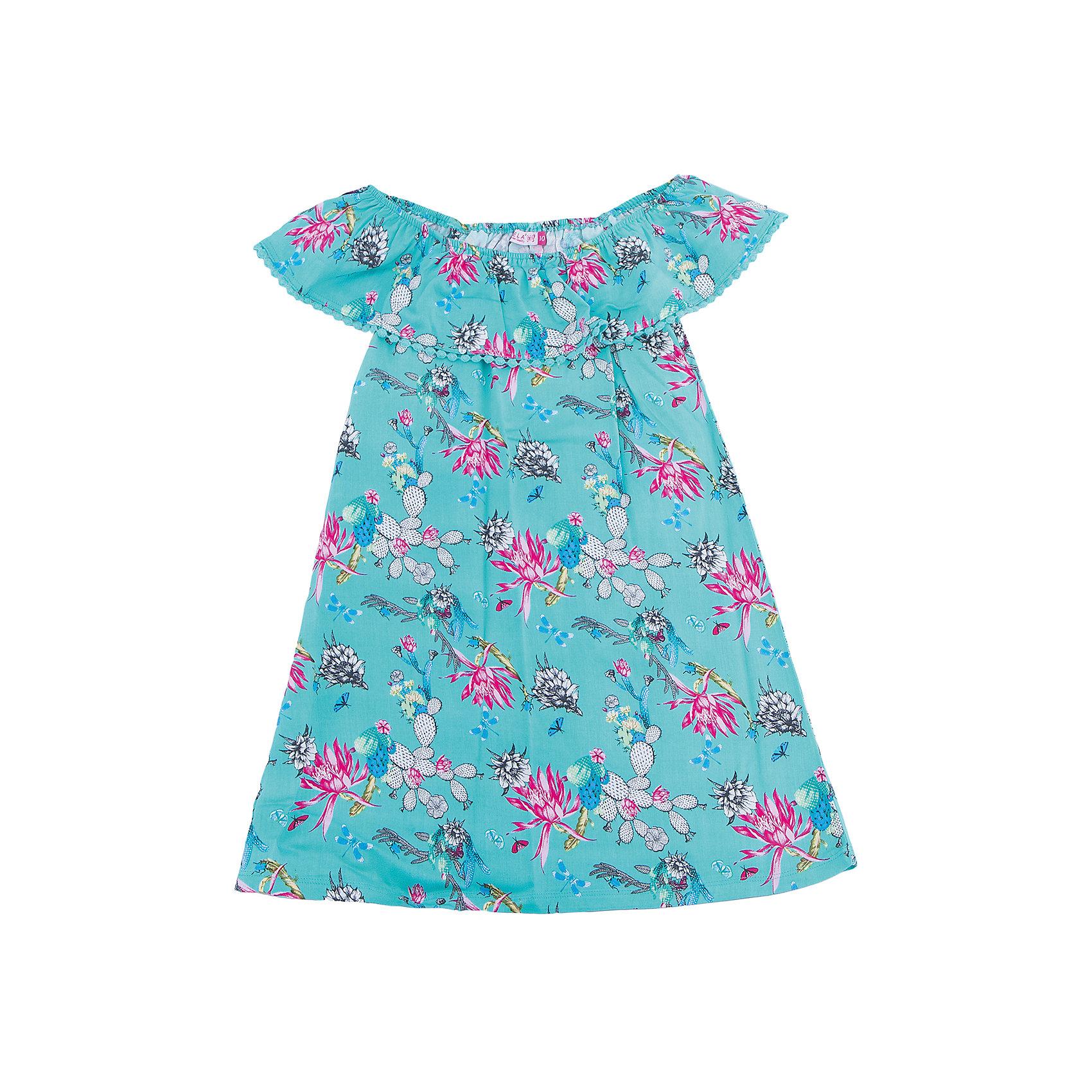 Платье для девочки SELAПлатья и сарафаны<br>Характеристики товара:<br><br>• цвет: бирюзовый<br>• состав: 100% вискоза<br>• без рукавов<br>• сезон: лето<br>• принт<br>• длина выше колена<br>• корткие рукава<br>• страна бренда: Россия<br><br>Платье для девочки поможет разнообразить гардероб ребенка и обеспечить комфорт.  Оно отлично сочетается с босоножками, сандалями или туфельками. Стильная и удобная вещь!<br><br>Одежда, обувь и аксессуары от российского бренда SELA не зря пользуются большой популярностью у детей и взрослых!<br><br>Платье для девочки от популярного бренда SELA (СЕЛА) можно купить в нашем интернет-магазине.<br><br>Ширина мм: 236<br>Глубина мм: 16<br>Высота мм: 184<br>Вес г: 177<br>Цвет: разноцветный<br>Возраст от месяцев: 108<br>Возраст до месяцев: 120<br>Пол: Женский<br>Возраст: Детский<br>Размер: 140,134,146,152,122,128<br>SKU: 5305480