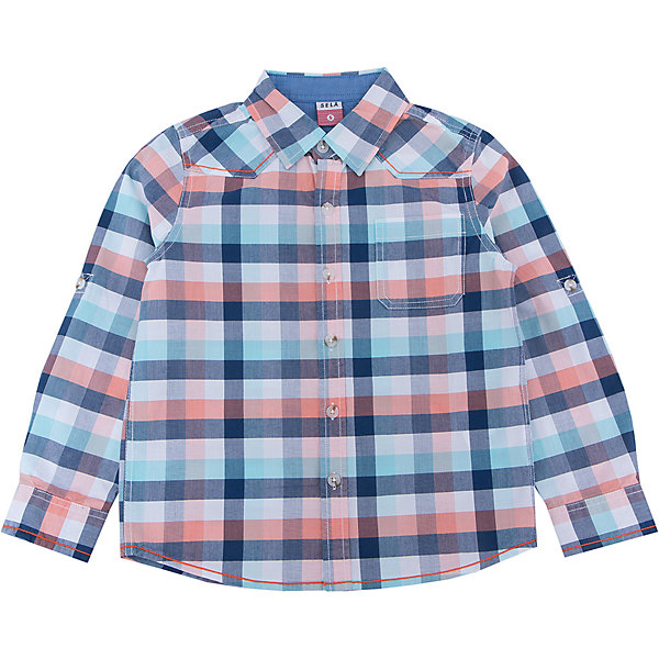 Рубашка для мальчика SELAБлузки и рубашки<br>Характеристики:<br><br>• Вид детской и подростковой одежды: рубашка<br>• Пол: для мальчика<br>• Предназначение: повседневная одежда<br>• Сезон: круглый год<br>• Тематика рисунка: клетка<br>• Цвет: синий, белый, голубой, оранжевый <br>• Материал: хлопок 100% <br>• Силуэт: прямой<br>• Рукав: длинный<br>• Воротник: отложной<br>• Застежка: пуговицы<br>• Особенности ухода: стирка при температуре не более 30 градусов, глажение на щадящем режиме<br><br>Рубашка для мальчика SELA из коллекции детской и подростковой одежды от знаменитого торгового бренда, который производит удобную, комфортную и стильную одежду, предназначенную как для будней, так и для праздников. Рубашка изготовлена из хлопка, что придает изделию повышенные гипоаллергенные и гигроскопичные свойства. Изделие выполнено в классическом стиле: прямой силуэт, длинный рукав с манжетами и отложной воротничок, на передней полочке имеется накладной карман. Рисунок из крупной клетки разных цветов и декоративные строчки придают изделию особый стиль. Рубашка прекрасно будет сочетаться как с брюками, так и с джинсами.<br><br>Рубашку для мальчика SELA можно купить в нашем интернет-магазине.<br>Состав:<br>100% хлопок<br>Ширина мм: 174; Глубина мм: 10; Высота мм: 169; Вес г: 157; Цвет: синий; Возраст от месяцев: 18; Возраст до месяцев: 24; Пол: Мужской; Возраст: Детский; Размер: 92,116,110,104,98; SKU: 5305493;