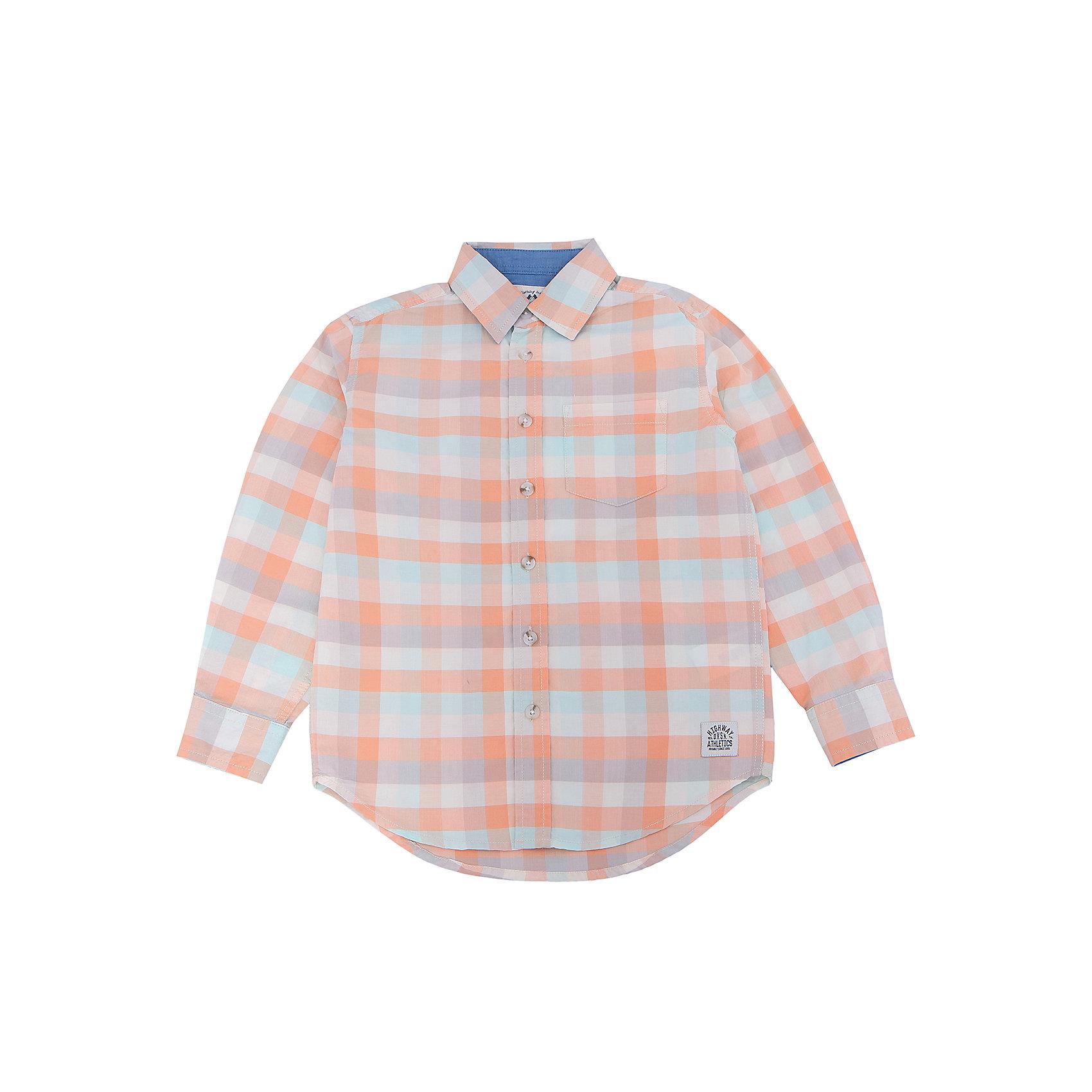 Рубашка для мальчика SELAБлузки и рубашки<br>Характеристики:<br><br>• Вид детской и подростковой одежды: рубашка<br>• Пол: для мальчика<br>• Предназначение: повседневная одежда<br>• Сезон: круглый год<br>• Тематика рисунка: клетка<br>• Цвет: желтый, оранжевый, молочный, голубой <br>• Материал: хлопок 100% <br>• Силуэт: прямой<br>• Рукав: длинный<br>• Воротник: отложной<br>• Застежка: пуговицы<br>• Особенности ухода: стирка при температуре не более 30 градусов, глажение на щадящем режиме<br><br>Рубашка для мальчика SELA из коллекции детской и подростковой одежды от знаменитого торгового бренда, который производит удобную, комфортную и стильную одежду, предназначенную как для будней, так и для праздников. Рубашка изготовлена из хлопка, что придает изделию повышенные гипоаллергенные и гигроскопичные свойства. Изделие выполнено в классическом стиле: прямой силуэт, длинный рукав с манжетами и отложной воротничок, на передней полочке имеется накладной карман. Рисунок из крупной клетки разных цветов придает изделию особый стиль. Рубашка прекрасно будет сочетаться как с брюками, так и с джинсами.<br><br>Рубашку для мальчика SELA можно купить в нашем интернет-магазине.<br>Состав:<br>100% хлопок<br><br>Ширина мм: 174<br>Глубина мм: 10<br>Высота мм: 169<br>Вес г: 157<br>Цвет: оранжевый<br>Возраст от месяцев: 96<br>Возраст до месяцев: 108<br>Пол: Мужской<br>Возраст: Детский<br>Размер: 134,140,146,152,116,122,128<br>SKU: 5305507