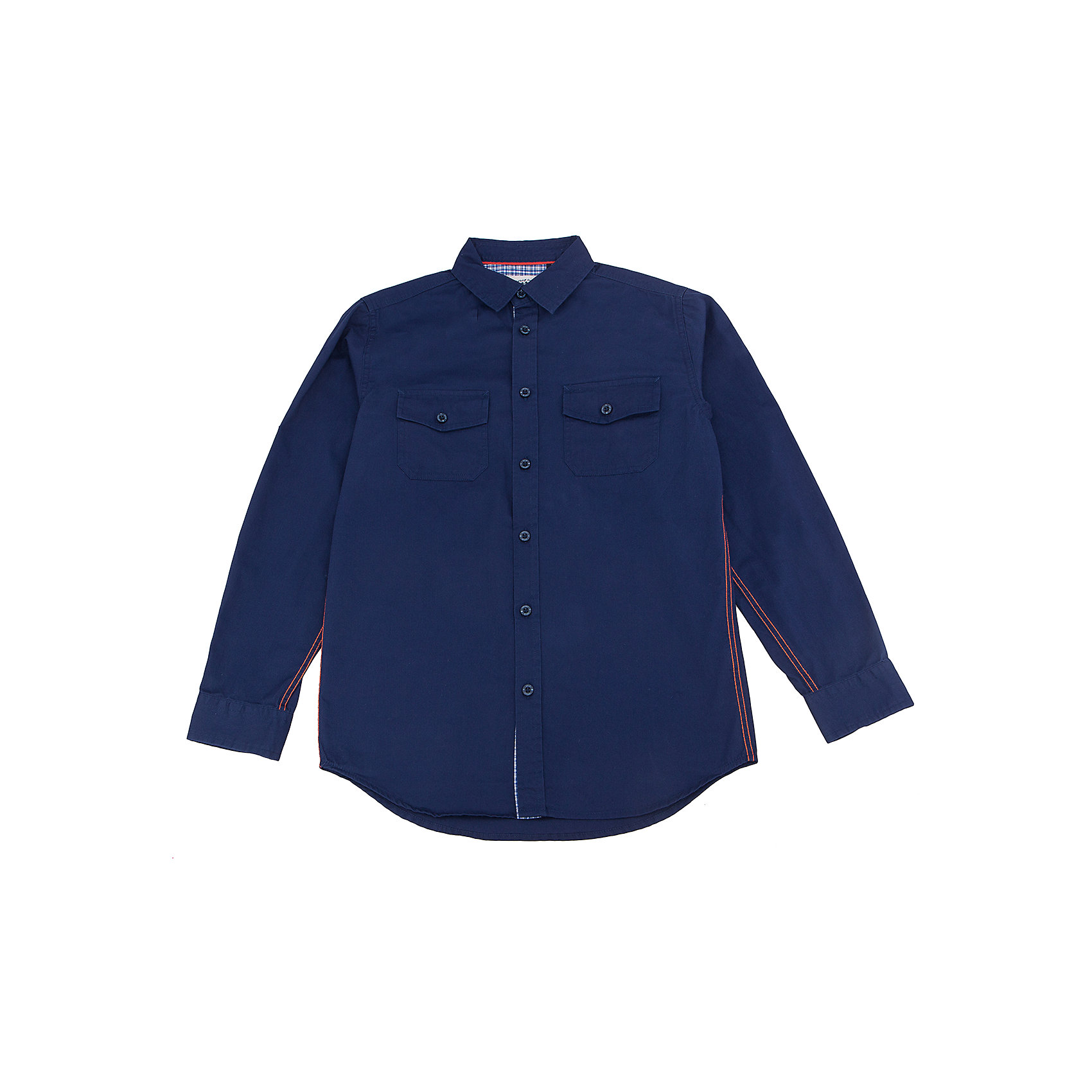 Рубашка для мальчика SELAБлузки и рубашки<br>Характеристики товара:<br><br>• цвет: тёмно-синий<br>• состав: 100% хлопок<br>• прямой силуэт<br>• пуговицы<br>• длинные рукава с опцией подгибки<br>• отложной воротник<br>• два кармана на пуговицах<br>• коллекция весна-лето 2017<br>• страна бренда: Российская Федерация<br>• страна изготовитель: Китай<br><br>Вещи из новой коллекции SELA продолжают радовать удобством! Модная рубашка для мальчика поможет разнообразить гардероб ребенка и обеспечить комфорт. Она отлично сочетается с джинсами и брюками. Очень стильно смотрится!<br><br>Одежда, обувь и аксессуары от российского бренда SELA не зря пользуются большой популярностью у детей и взрослых! Модели этой марки - стильные и удобные, цена при этом неизменно остается доступной. Для их производства используются только безопасные, качественные материалы и фурнитура. Новая коллекция поддерживает хорошие традиции бренда! <br><br>Рубашку для мальчика от популярного бренда SELA (СЕЛА) можно купить в нашем интернет-магазине.<br><br>Ширина мм: 174<br>Глубина мм: 10<br>Высота мм: 169<br>Вес г: 157<br>Цвет: синий<br>Возраст от месяцев: 108<br>Возраст до месяцев: 120<br>Пол: Мужской<br>Возраст: Детский<br>Размер: 140,134,128,122,116,152,146<br>SKU: 5305515