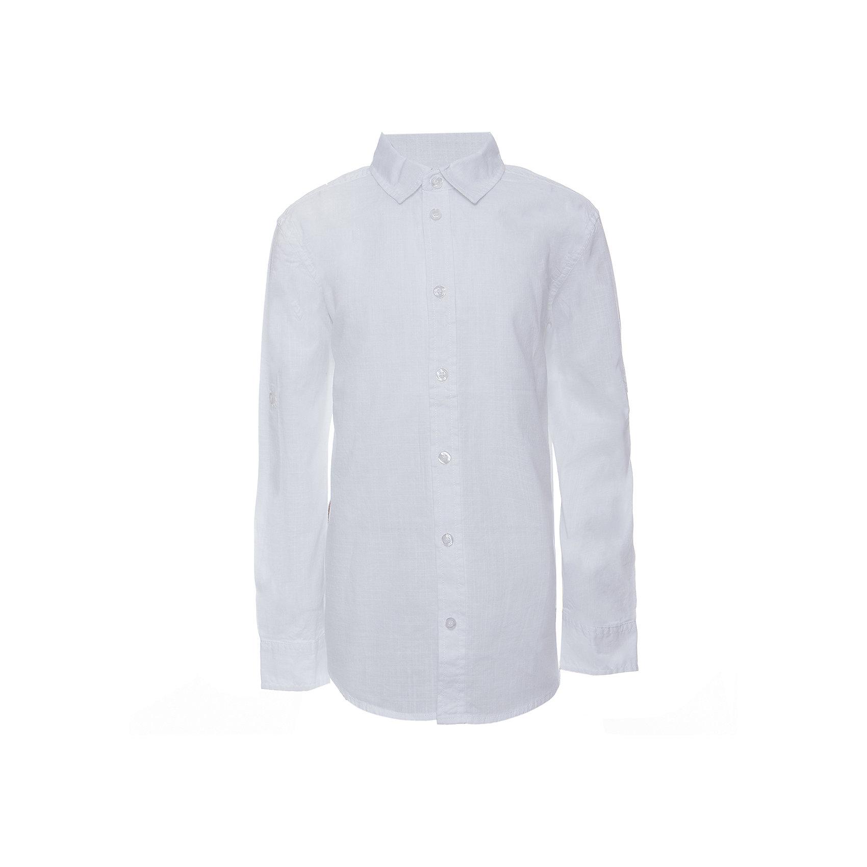 Рубашка для мальчика SELAБлузки и рубашки<br>Рубашка для мальчика от известного бренда SELA<br>Состав:<br>100% хлопок<br><br>Ширина мм: 174<br>Глубина мм: 10<br>Высота мм: 169<br>Вес г: 157<br>Цвет: белый<br>Возраст от месяцев: 96<br>Возраст до месяцев: 108<br>Пол: Мужской<br>Возраст: Детский<br>Размер: 134,140,146,152,122,128<br>SKU: 5305523