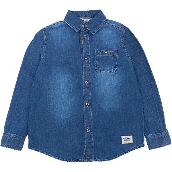 Рубашка джинсовая для мальчика SELAБлузки и рубашки<br>Характеристики товара:<br><br>• цвет: синий<br>• состав: 100% хлопок<br>• пуговицы<br>• длинные рукава<br>• отложной воротник<br>• карманы<br>• страна бренда: Российская Федерация<br><br>Вещи из новой коллекции SELA продолжают радовать удобством! Модная рубашка для мальчика поможет разнообразить гардероб ребенка и обеспечить комфорт. Она отлично сочетается с джинсами и брюками. Очень стильно смотрится!<br><br>Рубашку для мальчика от популярного бренда SELA (СЕЛА) можно купить в нашем интернет-магазине.<br>Ширина мм: 174; Глубина мм: 10; Высота мм: 169; Вес г: 157; Цвет: синий деним; Возраст от месяцев: 84; Возраст до месяцев: 96; Пол: Мужской; Возраст: Детский; Размер: 128,140,134,122,116,152,146; SKU: 5305530;
