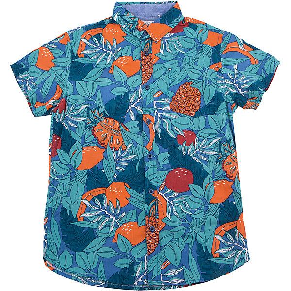 Рубашка для мальчика SELAБлузки и рубашки<br>Характеристики товара:<br><br>• цвет: синий принт<br>• сезон: лето<br>• состав: 100% хлопок<br>• пуговицы<br>• короткие рукава<br>• отложной воротник<br>• страна бренда: Россия<br><br>Модная рубашка для мальчика разнообразит гардероб ребенка. Она отлично сочетается с джинсами, брюками или шортами. Очень стильно смотрится!<br><br>Одежда, обувь и аксессуары от российского бренда SELA не зря пользуются большой популярностью у детей и взрослых! Модели этой марки - стильные и удобные, цена при этом неизменно остается доступной. <br><br>Рубашку для мальчика от популярного бренда SELA (СЕЛА) можно купить в нашем интернет-магазине.<br><br>Ширина мм: 174<br>Глубина мм: 10<br>Высота мм: 169<br>Вес г: 157<br>Цвет: синий<br>Возраст от месяцев: 96<br>Возраст до месяцев: 108<br>Пол: Мужской<br>Возраст: Детский<br>Размер: 140,128,122,152,146,134<br>SKU: 5305569