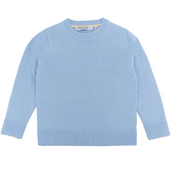 Джемпер для мальчика SELAСвитера и кардиганы<br>Характеристики:<br><br>• Вид детской и подростковой одежды: джемпер<br>• Пол: для мальчика<br>• Предназначение: повседневная (для школы)<br>• Сезон: демисезонный<br>• Тематика рисунка: без рисунка<br>• Цвет: голубой<br>• Материал: хлопок, 100%<br>• Силуэт: классический<br>• Рукав: втачной<br>• Воротник: округлый<br>• Особенности ухода: ручная стирка при температуре не более 30 градусов, глажение на щадящем режиме<br><br>Джемпер для мальчика SELA из коллекции детской и подростковой одежды от знаменитого торгового бренда, который производит удобную, комфортную и стильную одежду, предназначенную как для будней, так и для праздников. Джемпер выполнен из 100% хлопка, который обеспечивает изделию гипоаллергенные свойства, устойчивость к деформации и образованию катышков. Изделие выполнено в классическом стиле: прямой силуэт, длинный втачной рукав с манжетами из эластичной резинки и округлый воротничок. Джемпер выполнен в традиционном цвете для мальчиков. Изделие может быть в качестве базовой вещи в гардеробе для мальчика, прекрасно будет сочетаться как с брюками, так и с джинсами.<br><br>Джемпер для мальчика SELA можно купить в нашем интернет-магазине.<br>Состав:<br>100% хлопок<br><br>Ширина мм: 190<br>Глубина мм: 74<br>Высота мм: 229<br>Вес г: 236<br>Цвет: голубой<br>Возраст от месяцев: 18<br>Возраст до месяцев: 24<br>Пол: Мужской<br>Возраст: Детский<br>Размер: 92,116,110,104,98<br>SKU: 5305661