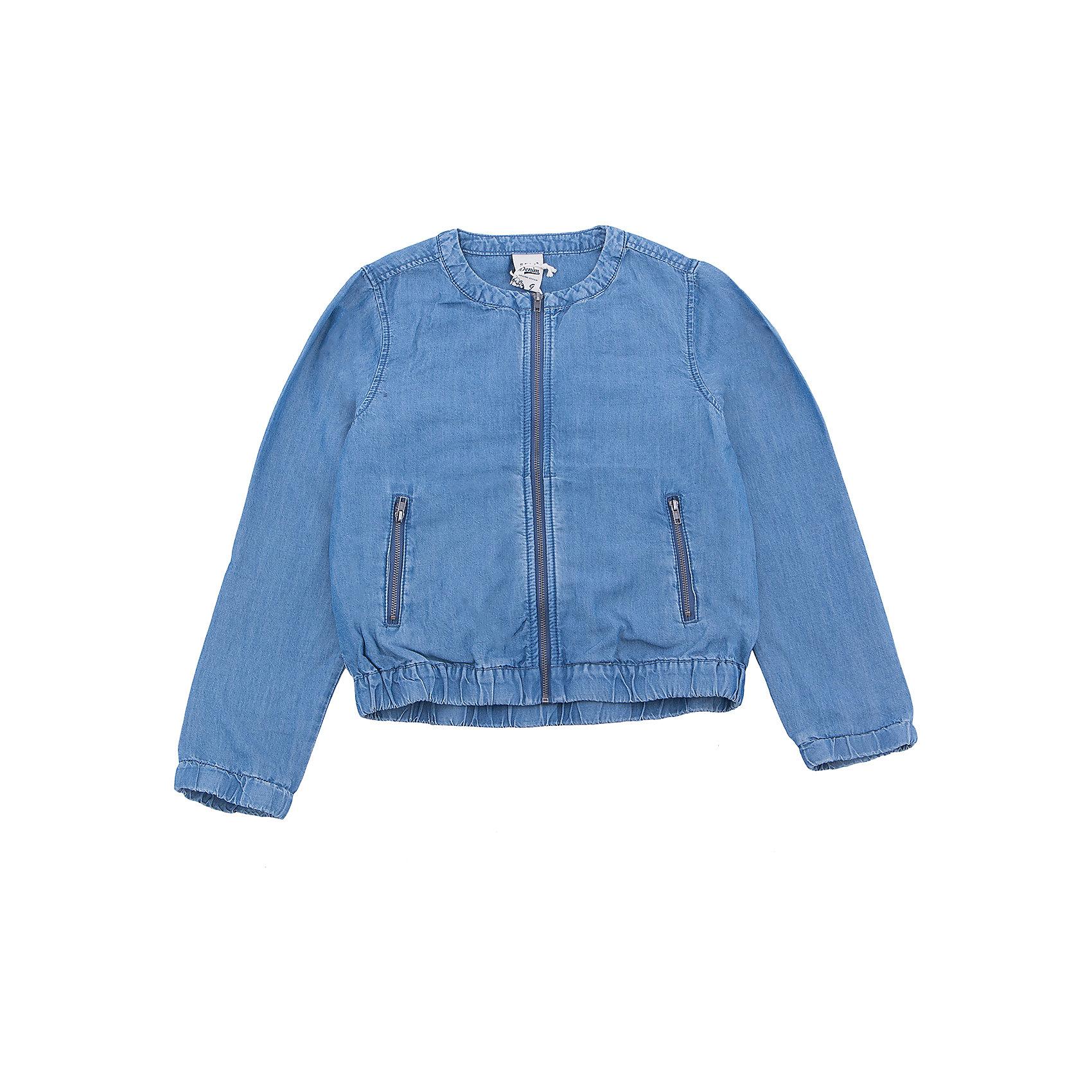 Куртка джинсовая для девочки SELAДжинсовая одежда<br>Характеристики товара:<br><br>• цвет:  синий джинс<br>• сезон: демисезон<br>• состав:  100% ВИС (тенсел)<br>• резинка по низу и в рукавах<br>• карманы<br>• длинные рукава<br>• легкая<br>• молния<br>• страна бренда: Россия<br><br>Вещи из новой коллекции SELA продолжают радовать удобством! Стильная легкая куртка для девочки поможет разнообразить гардероб ребенка и обеспечить комфорт в прохладную погоду. Она отлично сочетается с юбками и брюками. Отличается оригинальной отделкой. <br><br>Одежда, обувь и аксессуары от российского бренда SELA не зря пользуются большой популярностью у детей и взрослых! Модели этой марки - стильные и удобные, цена при этом неизменно остается доступной. Для их производства используются только безопасные, качественные материалы и фурнитура. Новая коллекция поддерживает хорошие традиции бренда! <br><br>Жакет для девочки от популярного бренда SELA (СЕЛА) можно купить в нашем интернет-магазине.<br><br>Ширина мм: 190<br>Глубина мм: 74<br>Высота мм: 229<br>Вес г: 236<br>Цвет: синий джинс<br>Возраст от месяцев: 72<br>Возраст до месяцев: 84<br>Пол: Женский<br>Возраст: Детский<br>Размер: 122,128,134,140,146,152,116<br>SKU: 5305700
