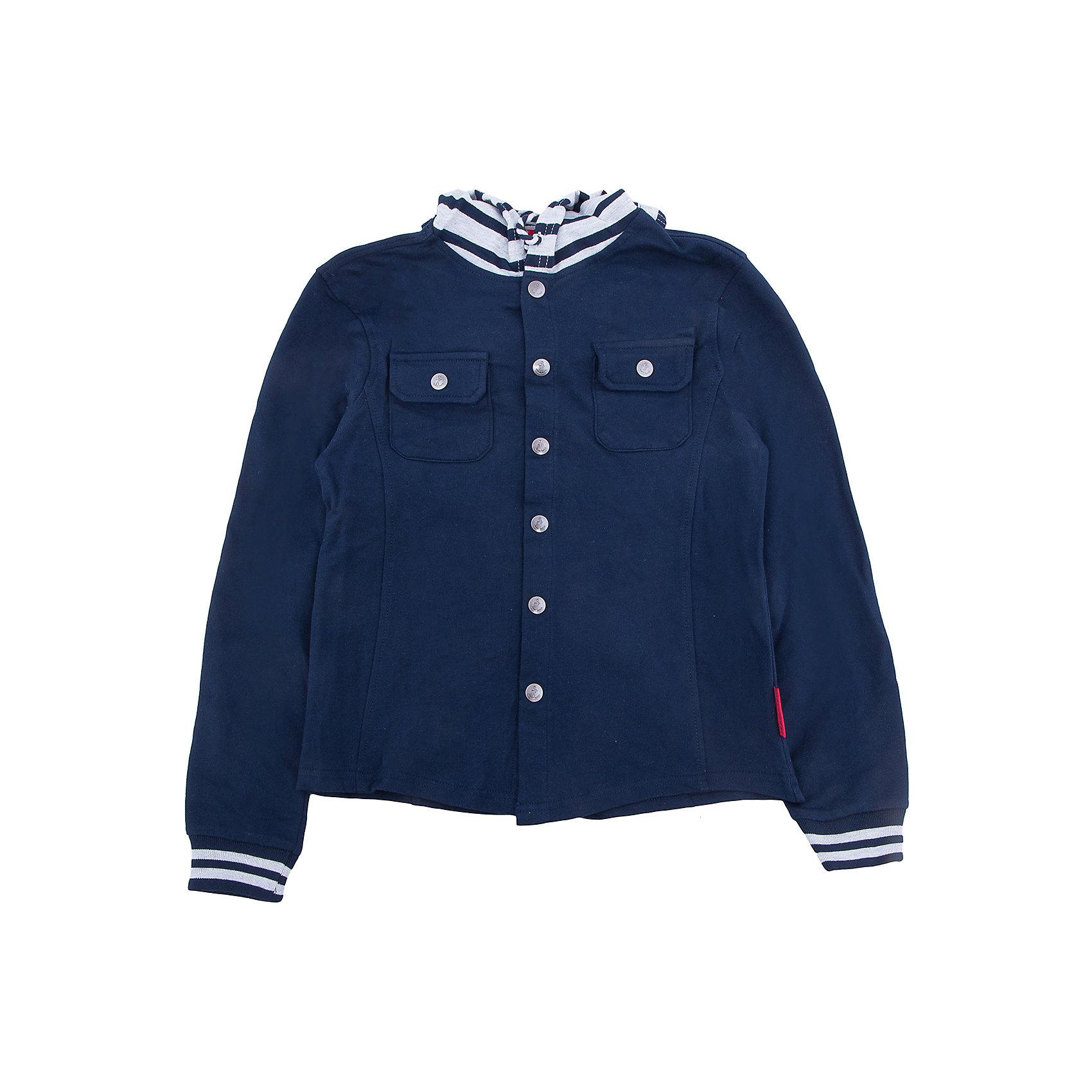 Куртка для мальчика SELAВерхняя одежда<br>Характеристики товара:<br><br>• цвет: синий<br>• состав: 100% хлопок<br>• без утеплителя<br>• температурный режим: от +10С<br>• сезон: демисезон<br>• мягкие манжеты<br>• капюшон с шнурком-утяжкой<br>• капюшон не отстегивается<br>• застежка: пуговицы<br>• низ - мягкая резинка<br>• дышащий материал<br>• два накладных нагрудных кармана<br>• страна бренда: Российская Федерация<br>• страна производства: Бангладеш<br><br>Ветровка с капюшоном для мальчика. Синяя ветровка застёгивается на пуговицы, капюшон утягивается шнурком. Рукава и подол на мягкой резинке. <br><br>Куртку для мальчика от популярного бренда SELA (СЕЛА) можно купить в нашем интернет-магазине.<br><br>Ширина мм: 356<br>Глубина мм: 10<br>Высота мм: 245<br>Вес г: 519<br>Цвет: синий<br>Возраст от месяцев: 108<br>Возраст до месяцев: 120<br>Пол: Мужской<br>Возраст: Детский<br>Размер: 140,134,146,152,122,128<br>SKU: 5305734