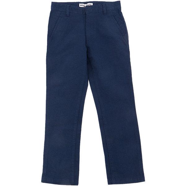 Брюки для мальчика SELAБрюки<br>Характеристики товара:<br><br>• цвет: синий<br>• состав: 100% хлопок<br>• классический силуэт<br>• карманы<br>• шлевки<br>• сезон: демисезон<br>• страна бренда: Россия<br><br>Вещи из новой коллекции SELA продолжают радовать удобством! Стильные брюки для мальчика помогут разнообразить гардероб ребенка и стать базовой вещью. Они отлично сочетаются с рубашками, футболками, куртками. Универсальный цвет позволяет подобрать к вещи верх разных расцветок. <br>Одежда, обувь и аксессуары от российского бренда SELA не зря пользуются большой популярностью у детей и взрослых! Модели этой марки - стильные и удобные, цена при этом неизменно остается доступной. Для их производства используются только безопасные, качественные материалы и фурнитура. Новая коллекция поддерживает хорошие традиции бренда! <br><br>Брюки для мальчика от популярного бренда SELA (СЕЛА) можно купить в нашем интернет-магазине.<br>Ширина мм: 215; Глубина мм: 88; Высота мм: 191; Вес г: 336; Цвет: синий; Возраст от месяцев: 108; Возраст до месяцев: 120; Пол: Мужской; Возраст: Детский; Размер: 140,134,128,122,116,152,146; SKU: 5305898;