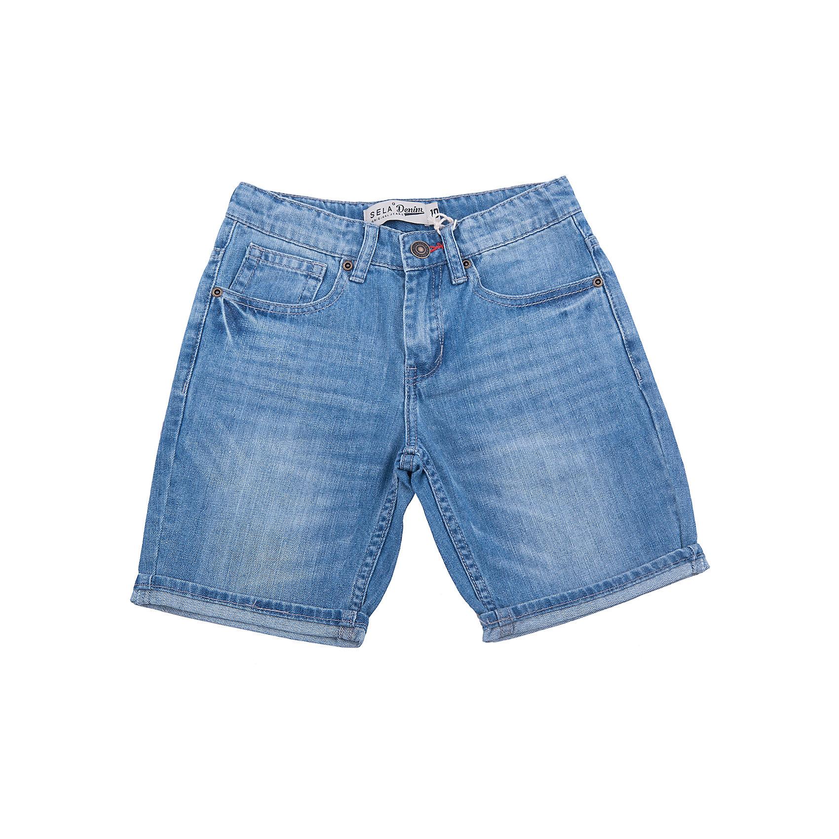 Шорты джинсовые для мальчика SELAДжинсовая одежда<br>Шорты джинсовые для мальчика от известного бренда SELA<br>Состав:<br>100% хлопок<br><br>Ширина мм: 191<br>Глубина мм: 10<br>Высота мм: 175<br>Вес г: 273<br>Цвет: голубой<br>Возраст от месяцев: 96<br>Возраст до месяцев: 108<br>Пол: Мужской<br>Возраст: Детский<br>Размер: 128,134,140,146,152,122<br>SKU: 5305970
