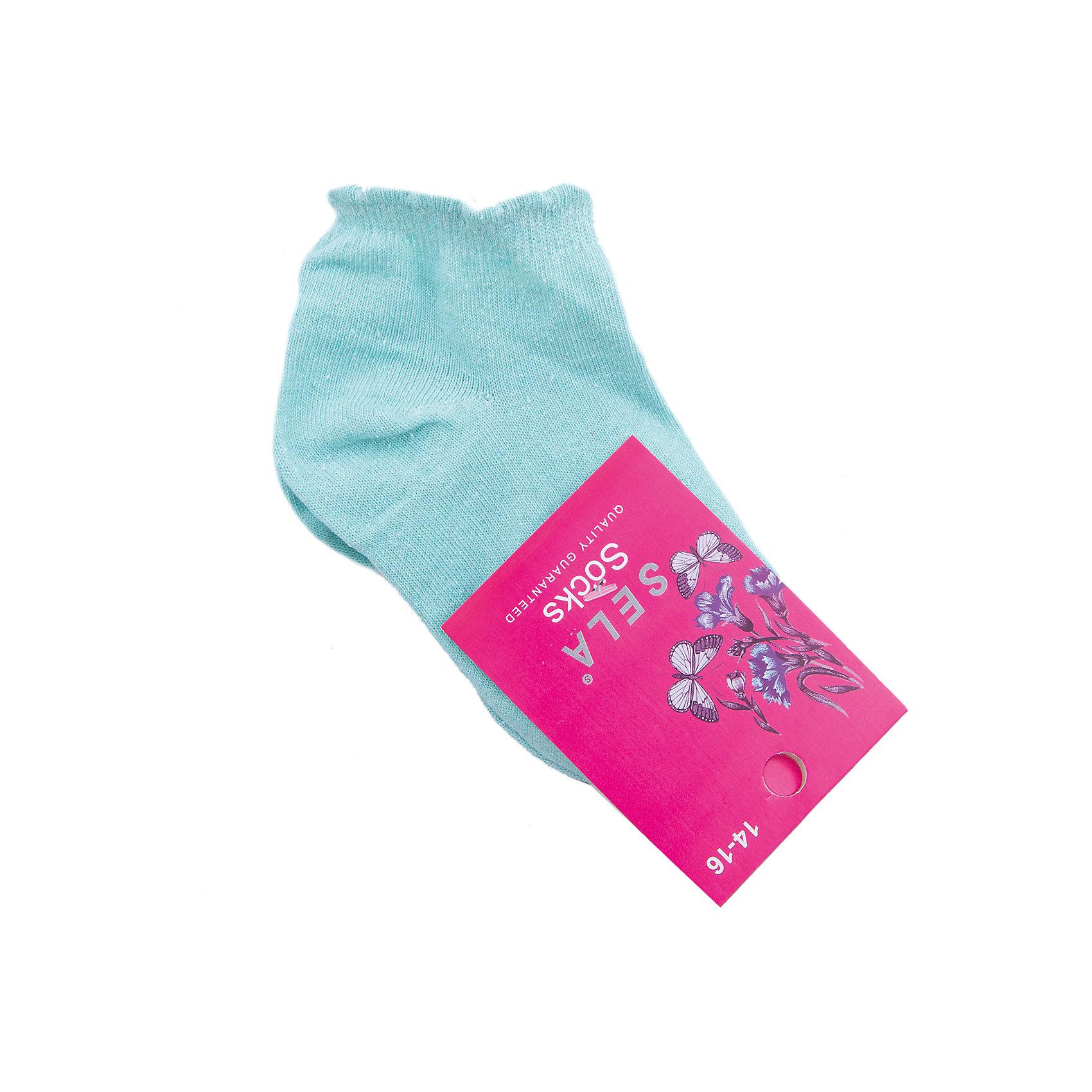 Носки для девочки SELAХарактеристики товара:<br><br>• цвет: зеленый<br>• состав: 80% хлопок, 17% нейлон, 3% эластан<br>• однотонные<br>• мягкая ажурная резинка<br>• короткие<br>• коллекция весна-лето 2017<br>• страна бренда: Российская Федерация<br><br>Вещи из новой коллекции SELA продолжают радовать удобством! Эти носки для девочки помогут дополнить наряд ребенка и обеспечить комфорт. Они отлично смотрятся с разной обувью. В составе материала - натуральный хлопок. <br><br>Одежда, обувь и аксессуары от российского бренда SELA не зря пользуются большой популярностью у детей и взрослых! Модели этой марки - стильные и удобные, цена при этом неизменно остается доступной. Для их производства используются только безопасные, качественные материалы и фурнитура. Новая коллекция поддерживает хорошие традиции бренда! <br><br>Носки для девочки от популярного бренда SELA (СЕЛА) можно купить в нашем интернет-магазине.<br><br>Ширина мм: 87<br>Глубина мм: 10<br>Высота мм: 105<br>Вес г: 115<br>Цвет: голубой<br>Возраст от месяцев: 15<br>Возраст до месяцев: 18<br>Пол: Женский<br>Возраст: Детский<br>Размер: 22,16,18,20<br>SKU: 5306225