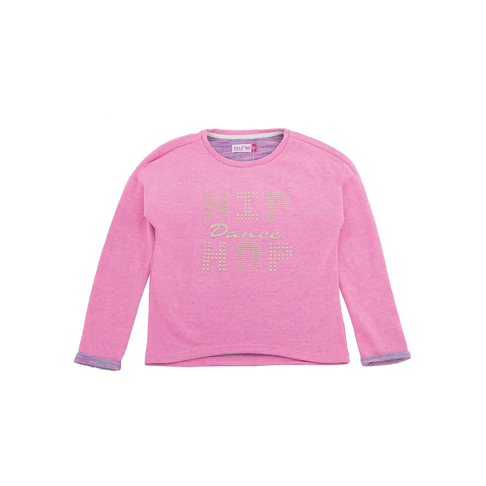 Толстовка для девочки SELAТолстовки<br>Характеристики товара:<br><br>• цвет: розовый<br>• состав: 65% хлопок, 35% полиэстер<br>• декорирована принтом<br>• удлиненная спинка<br>• страна бренда: Российская Федерация<br><br>Джемпер для девочки от популярного бренда SELA (СЕЛА) можно купить в нашем интернет-магазине.<br><br>Ширина мм: 190<br>Глубина мм: 74<br>Высота мм: 229<br>Вес г: 236<br>Цвет: розовый<br>Возраст от месяцев: 108<br>Возраст до месяцев: 120<br>Пол: Женский<br>Возраст: Детский<br>Размер: 140,134,128,122,116,152,146<br>SKU: 5306483
