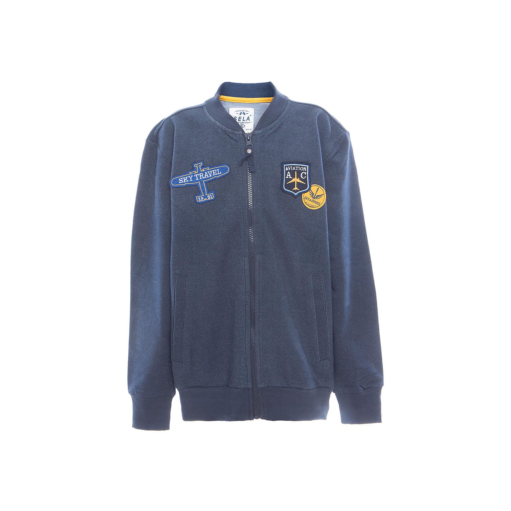 Куртка для мальчика SELAВерхняя одежда<br>Жакет для мальчика от известного бренда SELA<br>Состав:<br>59% хлопок, 39% ПЭ, 2% эластан<br><br>Ширина мм: 190<br>Глубина мм: 74<br>Высота мм: 229<br>Вес г: 236<br>Цвет: синий<br>Возраст от месяцев: 96<br>Возраст до месяцев: 108<br>Пол: Мужской<br>Возраст: Детский<br>Размер: 134,140,146,152,116,122,128<br>SKU: 5306631