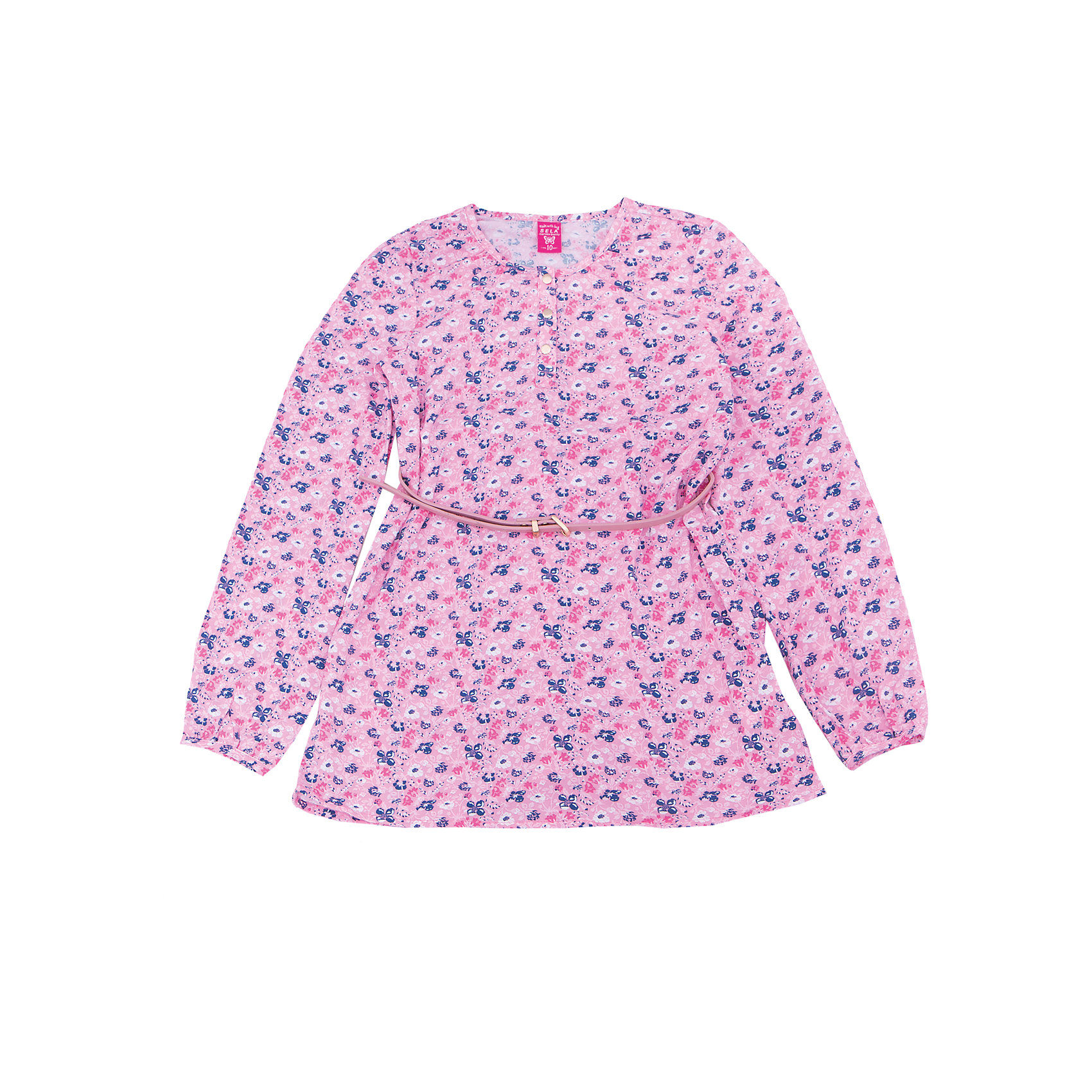 Блуза для девочки SELAБлузки и рубашки<br>Характеристики товара:<br><br>• цвет: розовый<br>• состав: 100% вискоза<br>• декорирована принтом<br>• приталенная<br>• длинные рукава<br>• округлый горловой вырез<br>• коллекция весна-лето 2017<br>• страна бренда: Российская Федерация<br><br>В новой коллекции SELA отличные модели одежды! Эта блуза для девочки поможет разнообразить гардероб ребенка и обеспечить комфорт. Она отлично сочетается с юбками и брюками. Стильная и удобная вещь!<br><br>Одежда, обувь и аксессуары от российского бренда SELA не зря пользуются большой популярностью у детей и взрослых! Модели этой марки - стильные и удобные, цена при этом неизменно остается доступной. Для их производства используются только безопасные, качественные материалы и фурнитура. Новая коллекция поддерживает хорошие традиции бренда! <br><br>Блузу для девочки от популярного бренда SELA (СЕЛА) можно купить в нашем интернет-магазине.<br><br>Ширина мм: 186<br>Глубина мм: 87<br>Высота мм: 198<br>Вес г: 197<br>Цвет: розовый<br>Возраст от месяцев: 108<br>Возраст до месяцев: 120<br>Пол: Женский<br>Возраст: Детский<br>Размер: 140,134,128,122,152,146<br>SKU: 5306937