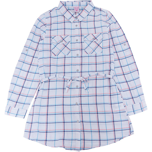 Блуза для девочки SELAБлузки и рубашки<br>Характеристики товара:<br><br>• цвет: белый<br>• состав: 100% хлопок<br>• в клетку<br>• приталенная<br>• карманы<br>• длинные рукава<br>• отложной воротник<br>• коллекция весна-лето 2017<br>• страна бренда: Российская Федерация<br><br>В новой коллекции SELA отличные модели одежды! Эта блуза для девочки поможет разнообразить гардероб ребенка и обеспечить комфорт. Она отлично сочетается с юбками и брюками. Стильная и удобная вещь!<br><br>Одежда, обувь и аксессуары от российского бренда SELA не зря пользуются большой популярностью у детей и взрослых! Модели этой марки - стильные и удобные, цена при этом неизменно остается доступной. Для их производства используются только безопасные, качественные материалы и фурнитура. Новая коллекция поддерживает хорошие традиции бренда! <br><br>Блузу для девочки от популярного бренда SELA (СЕЛА) можно купить в нашем интернет-магазине.<br><br>Ширина мм: 186<br>Глубина мм: 87<br>Высота мм: 198<br>Вес г: 197<br>Цвет: белый<br>Возраст от месяцев: 132<br>Возраст до месяцев: 144<br>Пол: Женский<br>Возраст: Детский<br>Размер: 152,122,146,140,134,128<br>SKU: 5306951