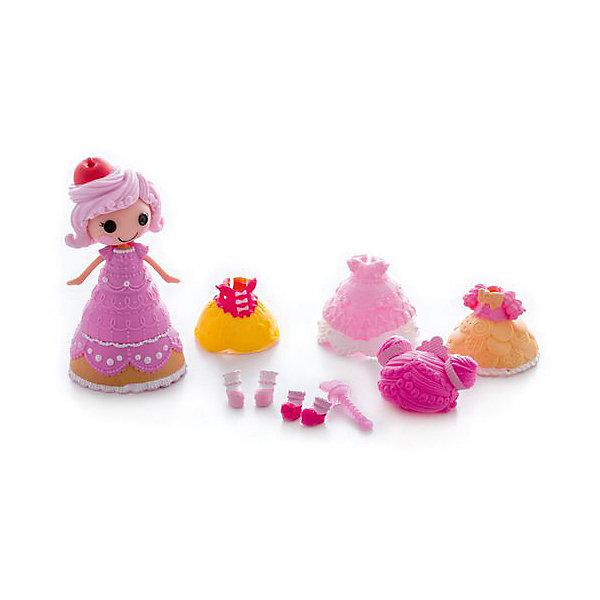 Кукла Крохи, с дополнительными аксессуарами, Мини-ЛалалупсиКуклы<br>Характеристики:<br><br>• Предназначение: для сюжетно-ролевых игр<br>• Пол: для девочек<br>• Коллекция: Мини-Лалалупси<br>• Рост куклы: 7 см<br>• Цвет: розовый, желтый, белый<br>• Материал: пластик, пластизоль<br>• Комплектация: кукла, три сменных наряда и аксессуары<br>• Бальное платье меняет цвет<br>• Вес: 163 г<br>• Размеры упаковки (Д*В*Ш): 20*6*21 см<br>• Упаковка: блистер на картоне с европодвесом <br>• Особенности ухода: разрешается мыть в теплой мыльной воде<br><br>Кукла Крохи, с дополнительными аксессуарами, Мини-Лалалупси – это очаровательная малышка, производителем которой является MGA Entertainment. Куколка и все аксессуары выполнены из пластика и пластизоля, которые отвечают международным стандартам качества и безопасности.  Элементы игрового набора окрашены нетоксичными красками. Использованный пластик устойчив к ударам и появлениям царапин, при длительной эксплуатации цвет элементов не изменяется. Набор состоит из мини-куколки Лалалупси в образе Сладкоежки, трех сменных платьев, трех париков, башмачков и волшебной палочки. <br><br>Бальное платье Сладкоежки может изменять цвет, для этого его достаточно опустить в холодную воду. Все элементы наборы выполнены с высокой степенью детализации. Сюжетно-ролевые игры с куклой Крохи, с дополнительными аксессуарами, Мини-Лалалупси будут способствовать развитию воображения, фантазии и формированию стиля и вкуса у вашей девочки. Кроме того, такой набор удобно брать с собой в поездки и путешествия, так как он имеет компактный размер и занимает мало места.<br><br>Куклу Крохи, с дополнительными аксессуарами, Мини-Лалалупси можно купить в нашем интернет-магазине.<br><br>Ширина мм: 200<br>Глубина мм: 210<br>Высота мм: 60<br>Вес г: 163<br>Возраст от месяцев: 36<br>Возраст до месяцев: 2147483647<br>Пол: Женский<br>Возраст: Детский<br>SKU: 5308984
