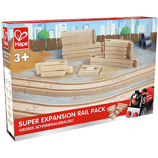 Игровой набор Железная дорога, HapeЖелезные дороги<br>Игровой набор Железная дорога, Hape (Хейп).<br><br>Характеристики:<br><br>- В наборе: элементы для сборки железной дороги<br>- Количество элементов: 24<br>- Материал: древесина<br>- Размер упаковки: 36х6х24 см.<br><br>Игровой набор Железная дорога позволит значительно улучшить конфигурацию деревянной железной дороги от Hape (Хейп). Элементы железнодорожного полотна легко присоединяется к любой железной дороге Hape (E3700, E3712, E3713). Набор изготовлен из отлично отшлифованного, натурального дерева.<br><br>Игровой набор Железная дорога, Hape (Хейп) можно купить в нашем интернет-магазине.<br><br>Ширина мм: 60<br>Глубина мм: 360<br>Высота мм: 240<br>Вес г: 1217<br>Возраст от месяцев: 36<br>Возраст до месяцев: 84<br>Пол: Мужской<br>Возраст: Детский<br>SKU: 5309153