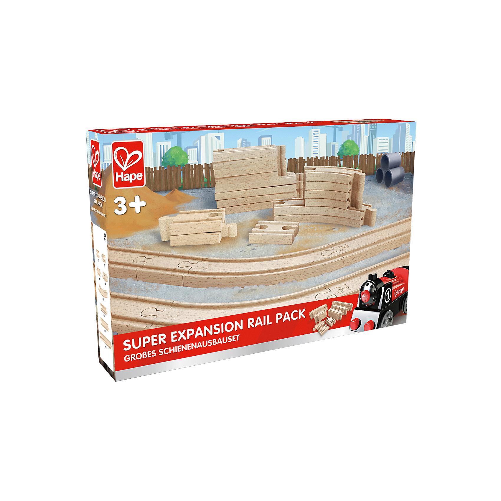 Игровой набор Железная дорога, HapeИгровой набор Железная дорога, Hape (Хейп).<br><br>Характеристики:<br><br>- В наборе: элементы для сборки железной дороги<br>- Количество элементов: 24<br>- Материал: древесина<br>- Размер упаковки: 36х6х24 см.<br><br>Игровой набор Железная дорога позволит значительно улучшить конфигурацию деревянной железной дороги от Hape (Хейп). Элементы железнодорожного полотна легко присоединяется к любой железной дороге Hape (E3700, E3712, E3713). Набор изготовлен из отлично отшлифованного, натурального дерева.<br><br>Игровой набор Железная дорога, Hape (Хейп) можно купить в нашем интернет-магазине.<br><br>Ширина мм: 60<br>Глубина мм: 360<br>Высота мм: 240<br>Вес г: 1217<br>Возраст от месяцев: 36<br>Возраст до месяцев: 84<br>Пол: Мужской<br>Возраст: Детский<br>SKU: 5309153