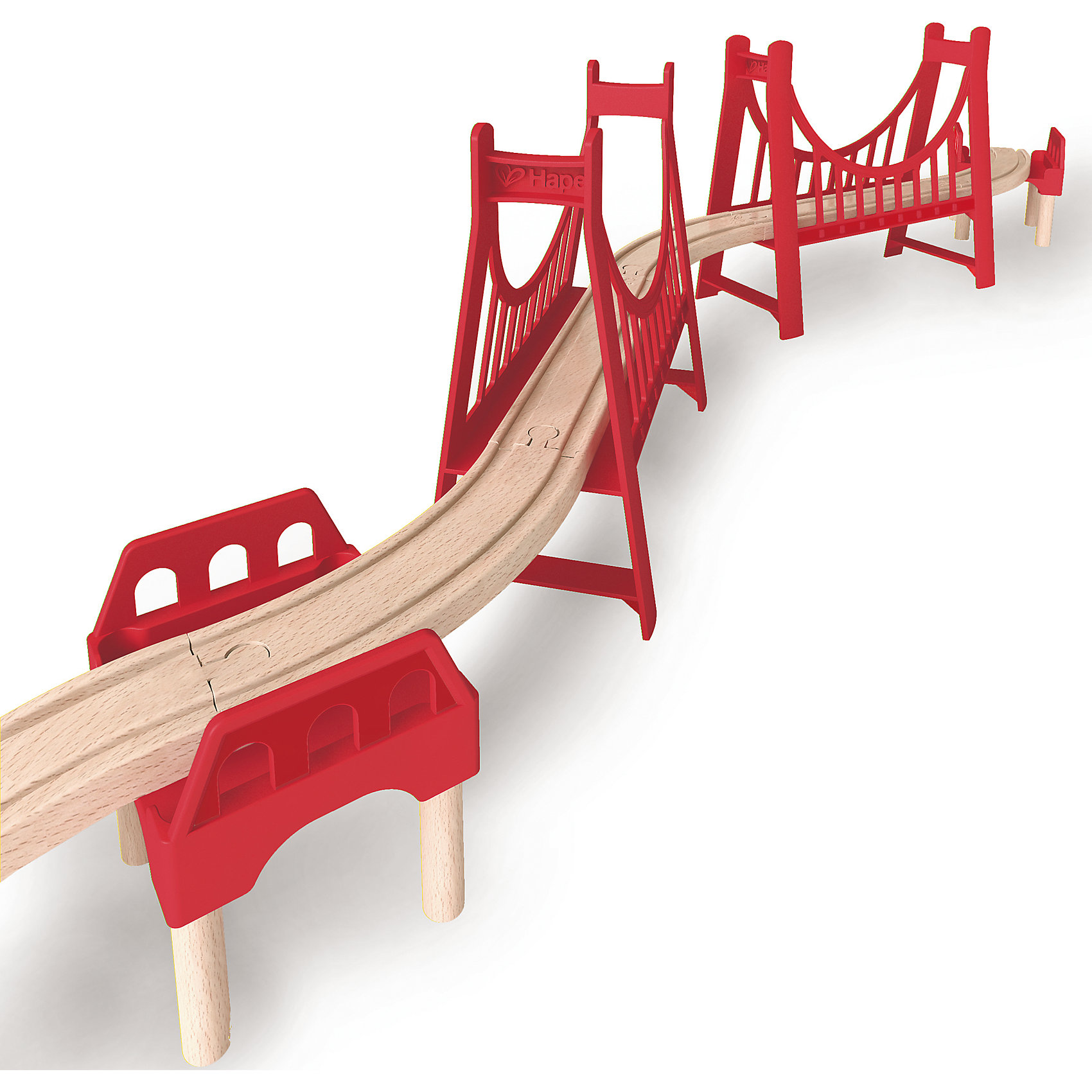 Дополнительный элемент Мост, HapeИгрушечная железная дорога<br>Дополнительный элемент Мост, Hape (Хейп).<br><br>Характеристики:<br><br>- В наборе: пролеты моста 2 шт, восходящие пролеты 2 шт.<br>- Размер: 130х20х20 см.<br>- Материал: древесина<br><br>Дополнительный элемент подвесной мост позволит значительно улучшить конфигурацию деревянной железной дороги от Hape (Хейп). Подвесной мост легко присоединяется к любой железной дороге Hape (E3700, E3712, E3713). Под подвесной мост можно провести автомобильную или железную дорогу. Также его можно разделить на два более коротких моста и установить в разных частях железной дороги. Дополнительный элемент Мост изготовлен из отлично отшлифованного, натурального дерева, окрашенного нетоксичной краской.<br><br>Дополнительный элемент Мост, Hape (Хейп) можно купить в нашем интернет-магазине.<br><br>Ширина мм: 120<br>Глубина мм: 480<br>Высота мм: 240<br>Вес г: 833<br>Возраст от месяцев: 36<br>Возраст до месяцев: 84<br>Пол: Мужской<br>Возраст: Детский<br>SKU: 5309156