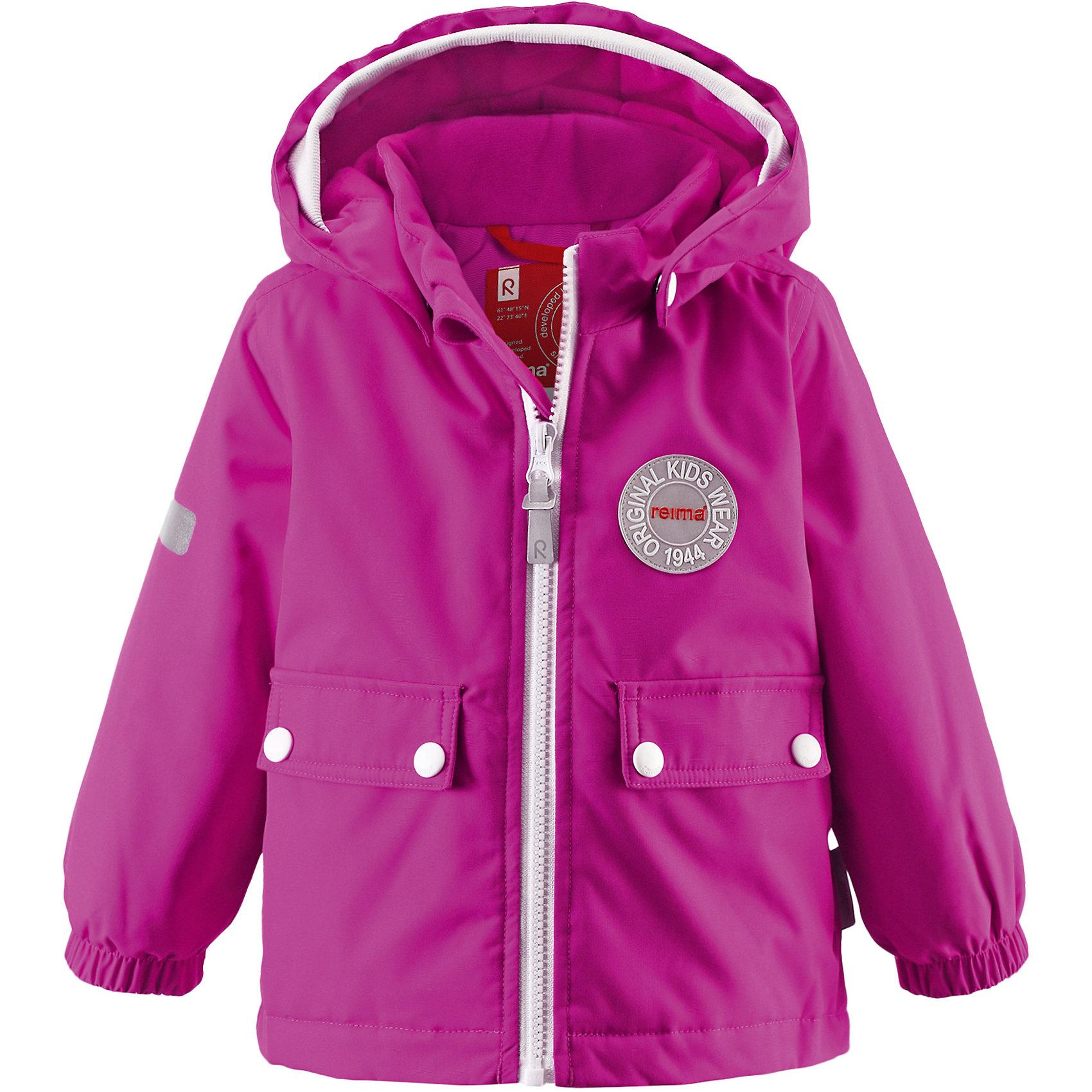 Куртка Quilt ReimaОдежда<br>Зимняя куртка для малышей. Основные швы проклеены и не пропускают влагу. Водоотталкивающий, ветронепроницаемый, «дышащий» и грязеотталкивающий материал. Теплая стеганая подкладка. Безопасный, съемный капюшон .Мягкая резинка на кромке капюшона .Эластичные манжеты.Удлиненный подол сзади. Два кармана с клапанами .Безопасные светоотражающие детали<br>Состав:<br>100% ПЭ, ПУ-покрытие<br><br>Ширина мм: 356<br>Глубина мм: 10<br>Высота мм: 245<br>Вес г: 519<br>Цвет: розовый<br>Возраст от месяцев: 18<br>Возраст до месяцев: 24<br>Пол: Унисекс<br>Возраст: Детский<br>Размер: 92<br>SKU: 5309195
