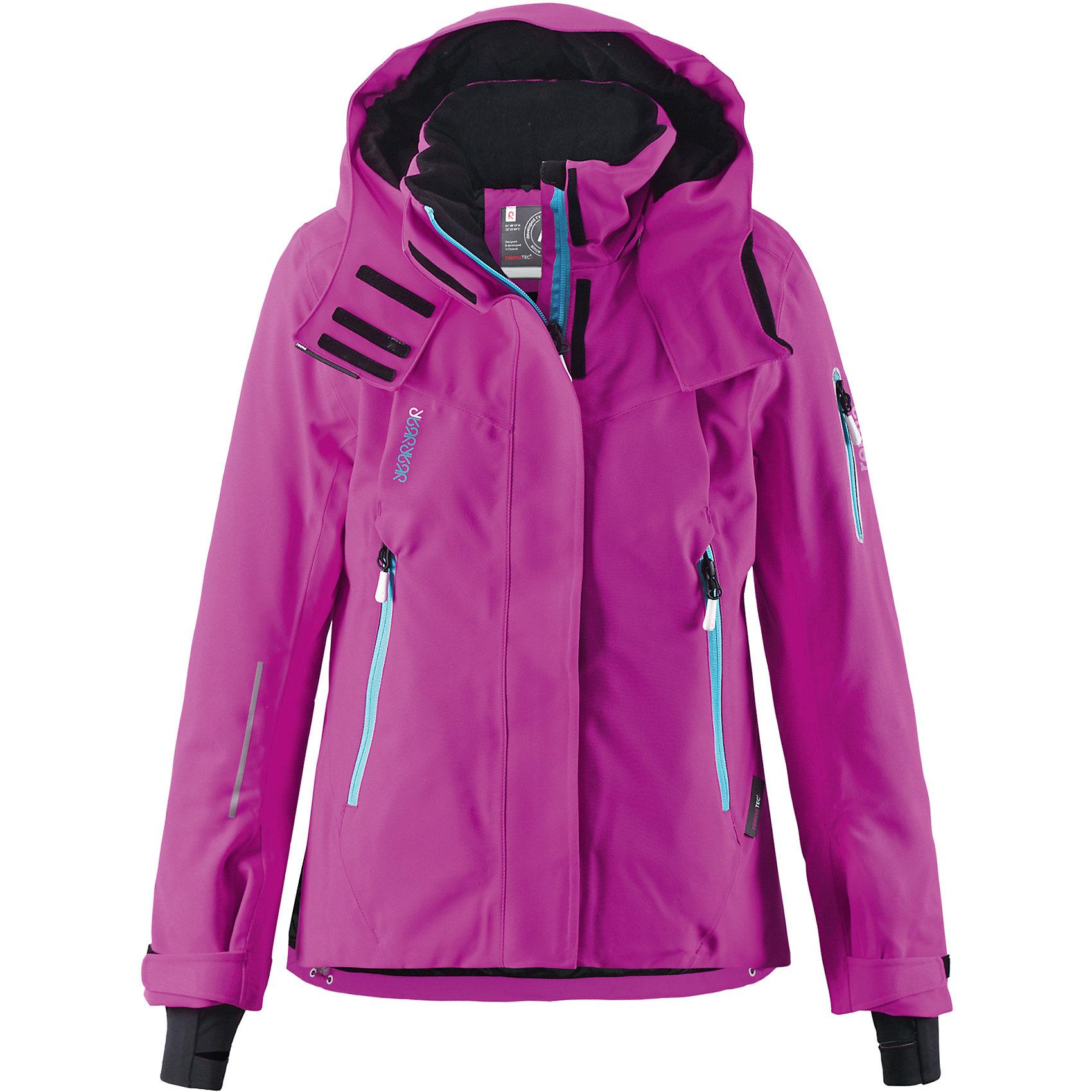 Куртка Moirana Reimatec®+ ReimaОдежда<br>Зимняя куртка для подростков.Все швы проклеены и водонепроницаемы. Водо- и ветронепроницаемый, «дышащий» и грязеотталкивающий материал. Место соединения куртки с брюками скрыто снегозащитной манжетой. Крой для девочек. Гладкая подкладка из полиэстра. Безопасный, отстегивающийся и регулируемый капюшон.Регулируемые манжеты и внутренние манжеты из лайкры. Удлиненные манжеты. Регулируемый подол, снегозащитный манжет на талии. Новая усовершенствованная молния — больше не застревает! Молнии контрастного цвета. Карман для очков, внутренний нагрудный карман и петли для проводов наушников.Карманы на молнии. Карман на рукаве с пластинчатым разъемом для датчика ReimaGO® .<br>Состав:<br>100% ПЭ, ПУ-покрытие<br><br>Ширина мм: 356<br>Глубина мм: 10<br>Высота мм: 245<br>Вес г: 519<br>Цвет: розовый<br>Возраст от месяцев: 108<br>Возраст до месяцев: 120<br>Пол: Унисекс<br>Возраст: Детский<br>Размер: 140,104,110,116,122,128,134<br>SKU: 5309283