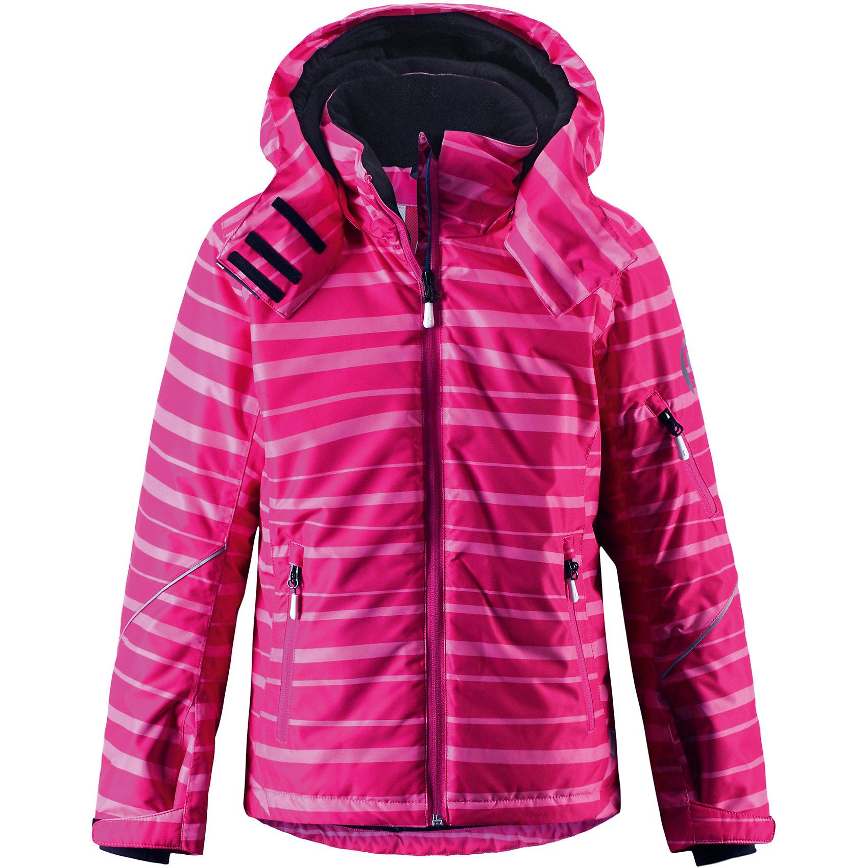 Куртка Glow ReimaОдежда<br>Зимняя куртка для подростков. Основные швы проклеены и не пропускают влагу. Водо- и ветронепроницаемый, «дышащий» и грязеотталкивающий материал. Крой для девочек. Гладкая подкладка из полиэстра.Безопасный, отстегивающийся и регулируемый капюшон. Регулируемые манжеты и внутренние манжеты из лайкры. Регулируемый подол, снегозащитный манжет на талии .Новая усовершенствованная молния — больше не застревает! Карманы на молнии, карман для skipass на рукаве. Карман для очков и внутренний нагрудный карман. Принт по всей поверхности .<br>Состав:<br>100% ПЭ, ПУ-покрытие<br><br>Ширина мм: 356<br>Глубина мм: 10<br>Высота мм: 245<br>Вес г: 519<br>Цвет: розовый<br>Возраст от месяцев: 108<br>Возраст до месяцев: 120<br>Пол: Унисекс<br>Возраст: Детский<br>Размер: 140,104,128,134<br>SKU: 5309298
