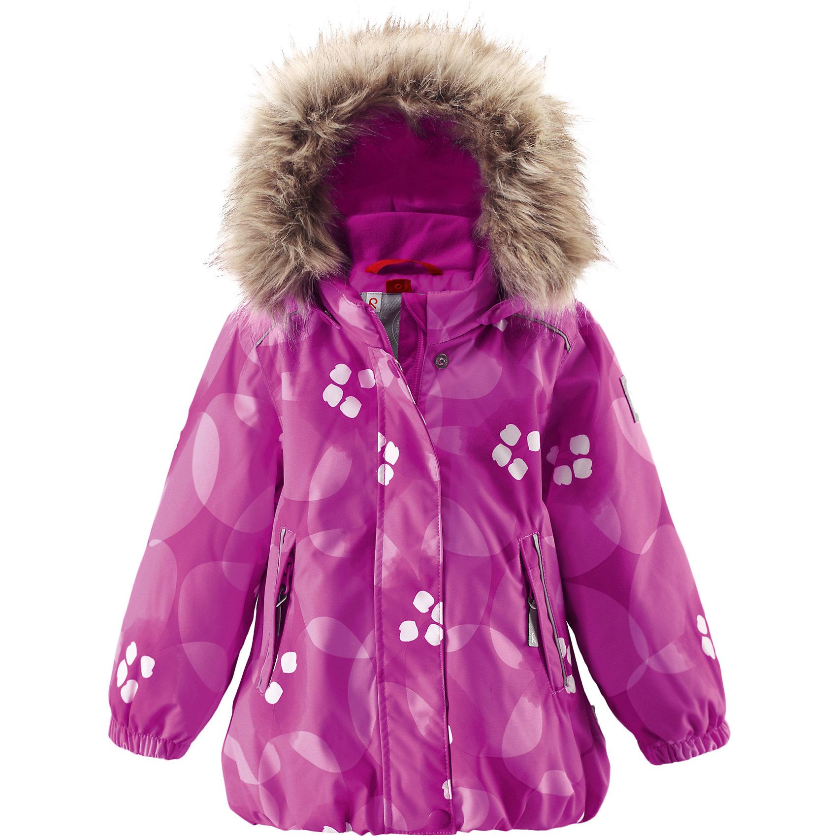 Куртка Muhvi Reimatec® ReimaОдежда<br>Зимняя куртка для малышей. Все швы проклеены и водонепроницаемы. Водо- и ветронепроницаемый, «дышащий» и грязеотталкивающий материал. Крой для девочек. Гладкая подкладка из полиэстра .Безопасный съемный капюшон с отсоединяемой меховой каймой из искусственного меха .Эластичный пояс сзади. Эластичные подол и манжеты. Регулируемый подол. Два кармана на молнии. Принт по всей поверхности .Безопасные светоотражающие детали.<br>Состав:<br>100% ПЭ, ПУ-покрытие<br><br>Ширина мм: 356<br>Глубина мм: 10<br>Высота мм: 245<br>Вес г: 519<br>Цвет: розовый<br>Возраст от месяцев: 12<br>Возраст до месяцев: 15<br>Пол: Унисекс<br>Возраст: Детский<br>Размер: 80,92,86<br>SKU: 5309331