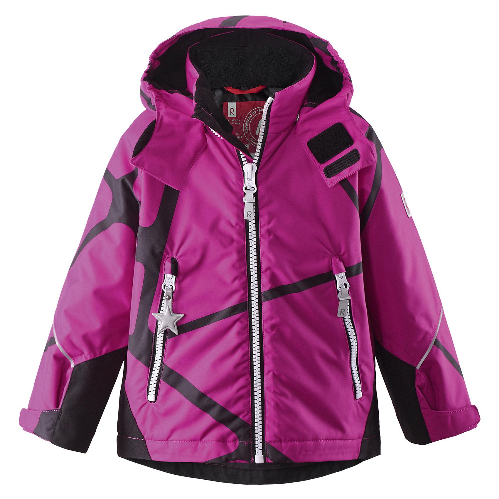 Куртка Kide ReimaОдежда<br>Зимняя куртка для детей. Основные швы проклеены и не пропускают влагу. Прочные усиленные вставки на рукавах и спинке Водо- и ветронепроницаемый, «дышащий» и грязеотталкивающий материал. Гладкая подкладка из полиэстра. Безопасный, съемный капюшон. Регулируемые манжеты и подол. Два кармана на молнии .Принт по всей поверхности .Безопасные светоотражающие детали.<br>Состав:<br>100% ПЭ, ПУ-покрытие<br><br>Ширина мм: 356<br>Глубина мм: 10<br>Высота мм: 245<br>Вес г: 519<br>Цвет: розовый<br>Возраст от месяцев: 72<br>Возраст до месяцев: 84<br>Пол: Унисекс<br>Возраст: Детский<br>Размер: 122,128,116<br>SKU: 5309359