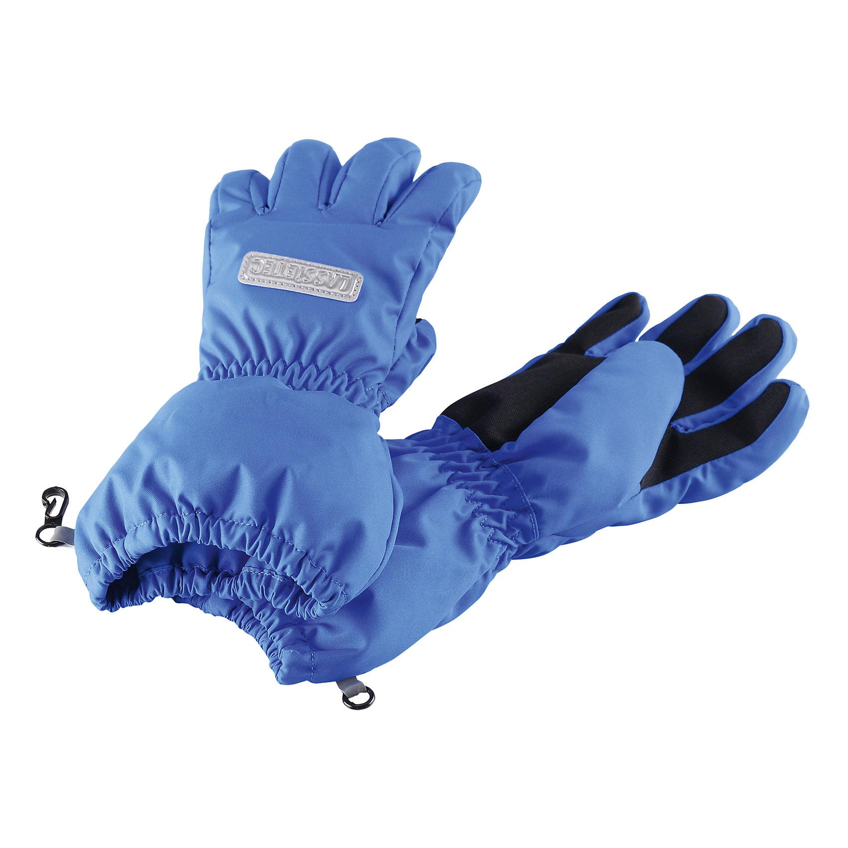 Перчатки  LASSIEПерчатки, варежки<br>Зимние перчатки для детей Lassietec®. Водонепроницаемая вставка. Водо- и ветронепроницаемый «дышащий» материал. Накладки на ладонях, кончиках пальцев и больших пальцах. Подкладка из полиэстера с начесом.Средняя степень утепления. Светоотражающая эмблема Lassie®.<br>Состав:<br>100% ПЭ, ПУ-покрытие<br><br>Ширина мм: 162<br>Глубина мм: 171<br>Высота мм: 55<br>Вес г: 119<br>Цвет: синий<br>Возраст от месяцев: 24<br>Возраст до месяцев: 48<br>Пол: Унисекс<br>Возраст: Детский<br>Размер: 3<br>SKU: 5309429