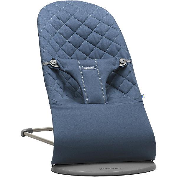 Кресло-шезлонг Bliss Cotton, BabyBjorn, синий