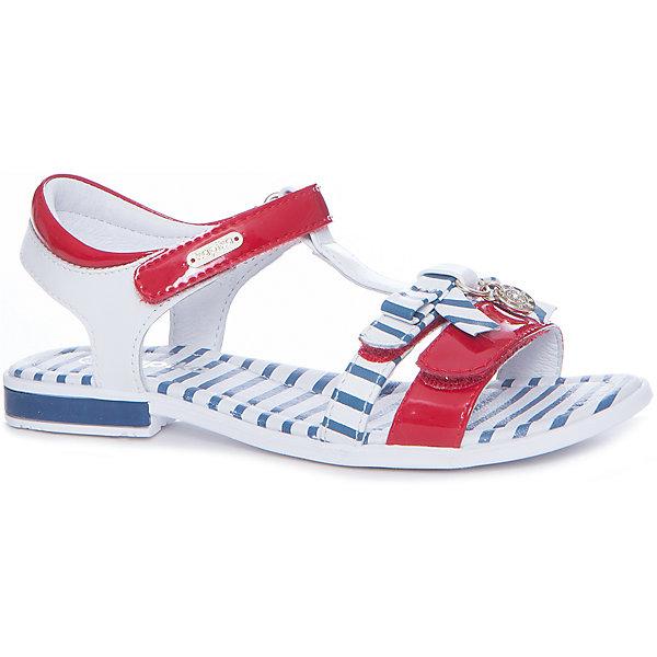 Босоножки для девочки KAPIKA, красный, синий в полоскуБосоножки<br>Характеристики товара:<br><br>• цвет: красный, синий в полоску<br>• тип обуви: анатомическая<br>• внешний материал обуви: натуральная кожа, экокожа<br>• внутренний материал: натуральная кожа<br>• стелька: натуральная кожа<br>• подошва: ТЭП<br>• с открытым мысом и открытой пяткой<br>• тип застежки: на липучке<br>• сезон: лето<br>• страна бренда: Россия<br>• страна изготовитель: Китай<br><br>Босоножки для девочки от российского бренда Kapika (Капика) можно купить в нашем интернет-магазине.<br><br>Ширина мм: 227<br>Глубина мм: 145<br>Высота мм: 124<br>Вес г: 325<br>Цвет: белый<br>Возраст от месяцев: 144<br>Возраст до месяцев: 156<br>Пол: Женский<br>Возраст: Детский<br>Размер: 36,30,35,34,33,32,31<br>SKU: 5323879