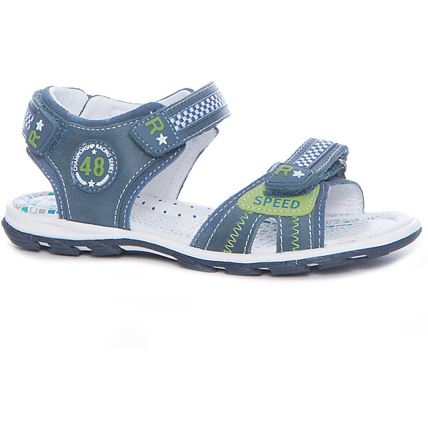 Сандалии для мальчика KAPIKA, синий, зеленыйСандалии<br>Характеристики товара:<br><br>• цвет: синий, зеленый<br>• тип сандалей: анатомические<br>• внешний материал обуви: натуральная кожа<br>• внутренний материал: натуральная кожа<br>• стелька: натуральная кожа<br>• подошва: ТЭП<br>• с открытым мысом и открытой пяткой<br>• тип застежки: на липучке<br>• сезон: лето<br>• страна бренда: Россия<br>• страна изготовитель: Китай<br><br>Сандалии открытые для мальчика от российского бренда Kapika (Капика) можно купить в нашем интернет-магазине.<br>Ширина мм: 227; Глубина мм: 145; Высота мм: 124; Вес г: 325; Цвет: синий; Возраст от месяцев: 132; Возраст до месяцев: 144; Пол: Мужской; Возраст: Детский; Размер: 35,31,34,33,32; SKU: 5323914;