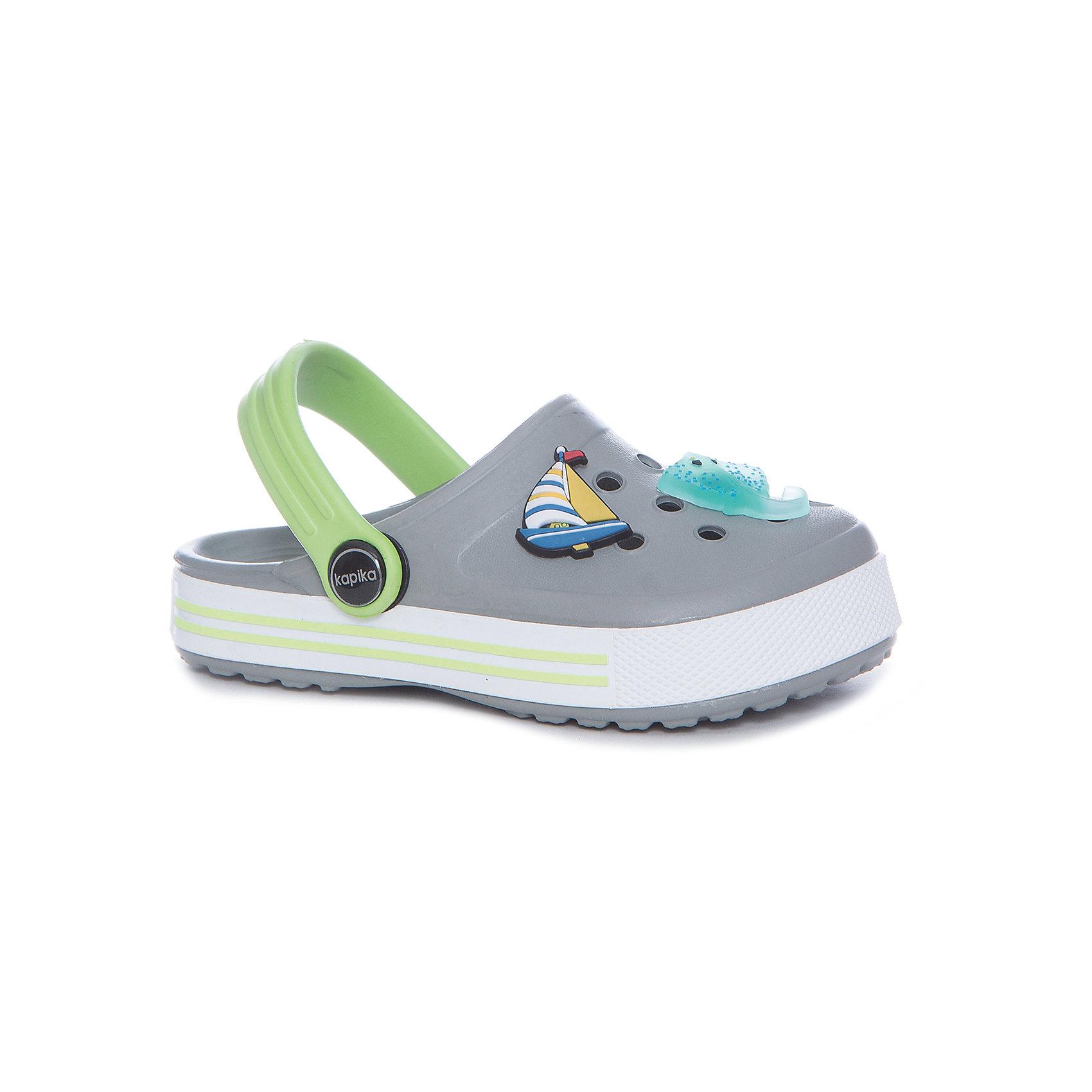 Сабо для мальчика KAPIKAПляжная обувь<br>Характеристики товара:<br><br>• пляжная обувь<br>• внешний материал обуви: ЭВА<br>• внутренний материал: ЭВА<br>• подошва:ЭВА<br>• сезон: лето<br>• страна бренда: Россия<br>• страна изготовитель: Китай<br><br>Сабо пляжные Kapika (Капика) можно купить в нашем интернет-магазине.<br><br>Ширина мм: 227<br>Глубина мм: 145<br>Высота мм: 124<br>Вес г: 325<br>Цвет: разноцветный<br>Возраст от месяцев: 108<br>Возраст до месяцев: 120<br>Пол: Мужской<br>Возраст: Детский<br>Размер: 33,28,29,30,31,32<br>SKU: 5324353