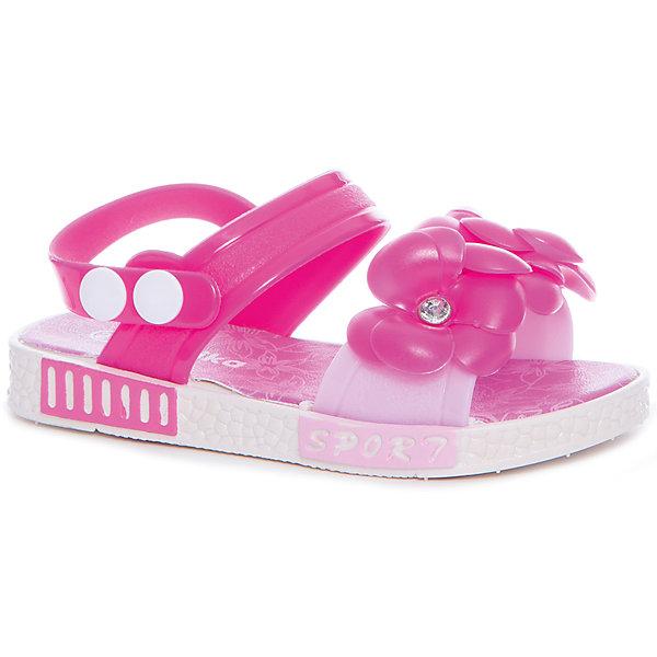 Босоножки для девочки KAPIKA, розовыйБосоножки<br>Характеристики товара:<br><br>• цвет: розовый<br>• внешний материал обуви: ЭВА, ПВХ<br>• внутренний материал: ЭВА<br>• подошва:ЭВА<br>• сезон: лето<br>• тип застежки: на кнопке<br>• декорированы цветами<br>• страна бренда: Россия<br>• страна изготовитель: Китай<br><br>Яркие босоножки Kapika (Капика) можно купить в нашем интернет-магазине.<br>Ширина мм: 227; Глубина мм: 145; Высота мм: 124; Вес г: 325; Цвет: белый; Возраст от месяцев: 24; Возраст до месяцев: 36; Пол: Женский; Возраст: Детский; Размер: 26,24,28,27,25; SKU: 5324388;