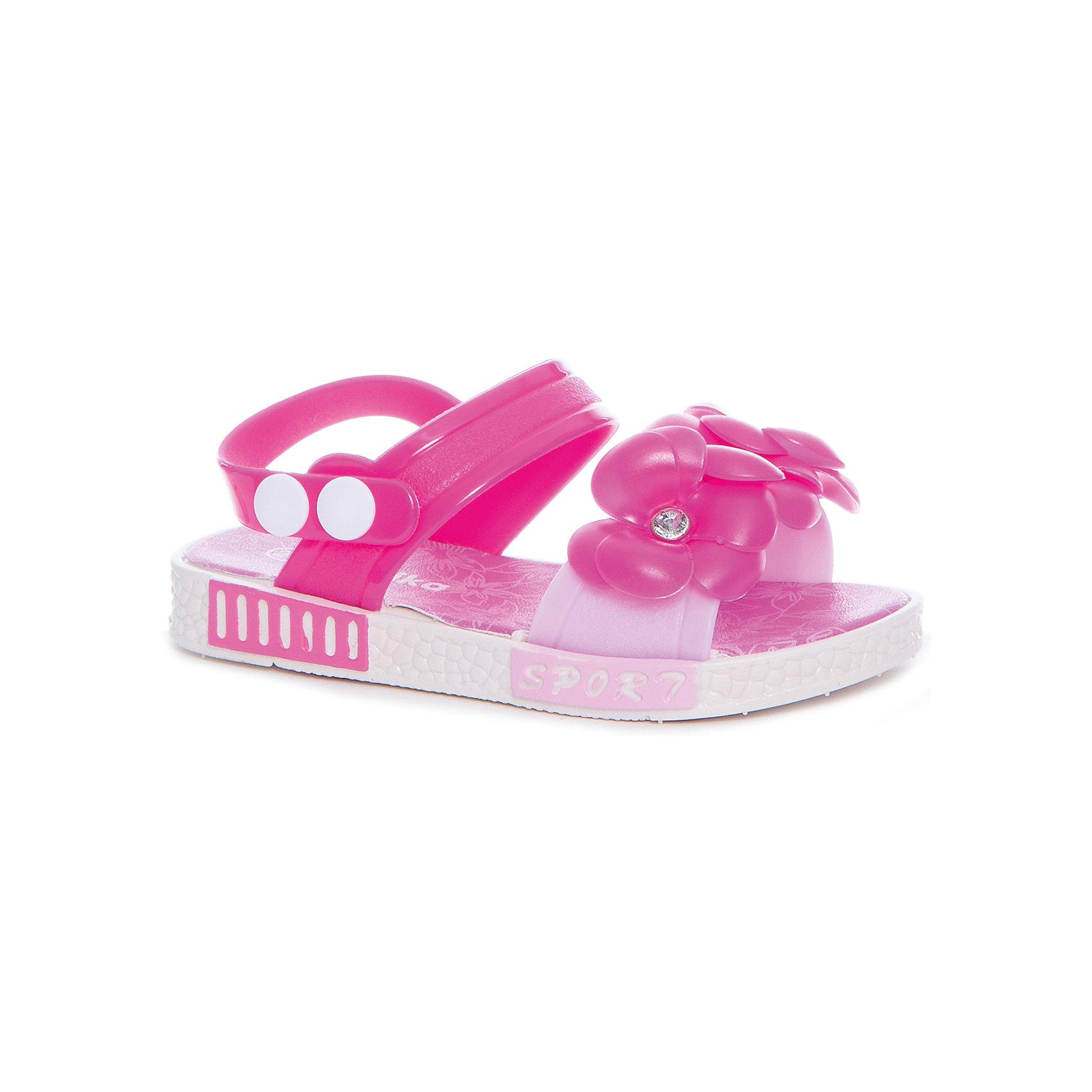 Босоножки для девочки KAPIKA, розовыйБосоножки<br>Характеристики товара:<br><br>• цвет: розовый<br>• внешний материал обуви: ЭВА, ПВХ<br>• внутренний материал: ЭВА<br>• подошва:ЭВА<br>• сезон: лето<br>• тип застежки: на кнопке<br>• декорированы цветами<br>• страна бренда: Россия<br>• страна изготовитель: Китай<br><br>Яркие босоножки Kapika (Капика) можно купить в нашем интернет-магазине.<br><br>Ширина мм: 227<br>Глубина мм: 145<br>Высота мм: 124<br>Вес г: 325<br>Цвет: разноцветный<br>Возраст от месяцев: 48<br>Возраст до месяцев: 60<br>Пол: Женский<br>Возраст: Детский<br>Размер: 28,27,24,25,26<br>SKU: 5324388