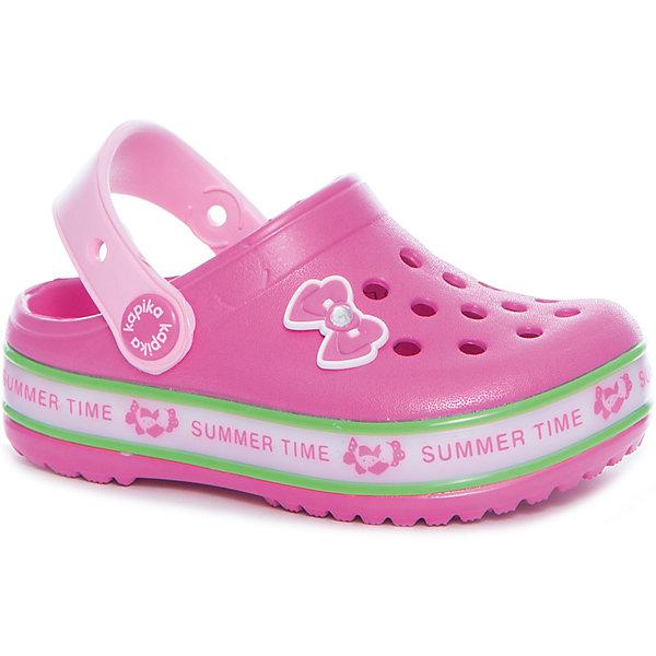 Сабо со светодиодами для девочки KAPIKAПляжная обувь<br>Сабо со светодиодами для девочки KAPIKA<br>Состав:<br>материал верха - ЭВА, подкладка - ЭВА, подошва - ЭВА<br><br>Ширина мм: 227<br>Глубина мм: 145<br>Высота мм: 124<br>Вес г: 325<br>Цвет: розовый<br>Возраст от месяцев: 24<br>Возраст до месяцев: 24<br>Пол: Женский<br>Возраст: Детский<br>Размер: 25,30,29,28,27,26<br>SKU: 5324401