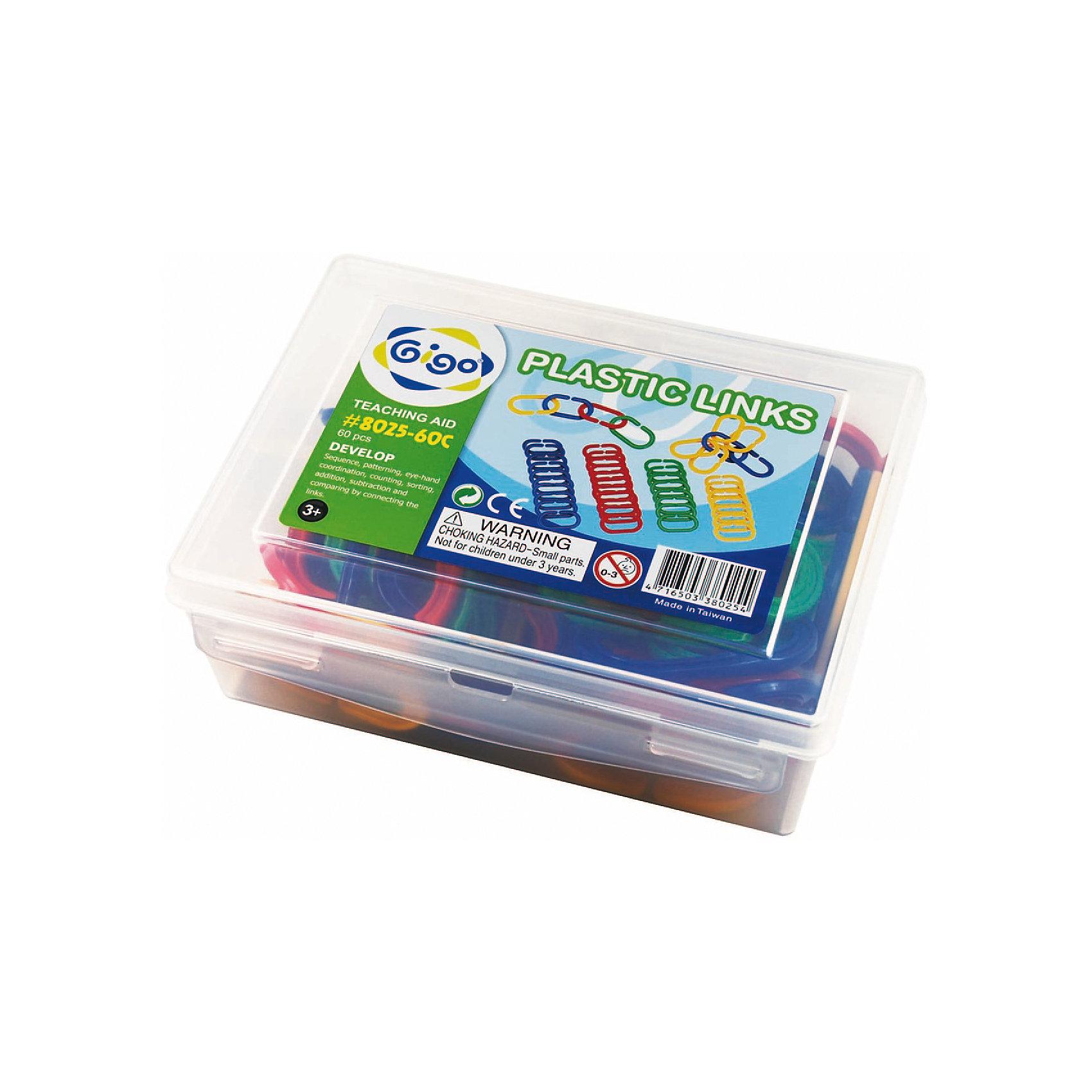 Набор Соедини кольцаРазвивающие игры<br>Конструктор Gigo Plastic links (Гиго. Соедини кольца) состоит из 60 колец красного, желтого, зеленого и синего цветов.<br>Элементы легко соединяются между собой, и из них можно создавать различные фигурки.<br><br>Ширина мм: 72<br>Глубина мм: 152<br>Высота мм: 192<br>Вес г: 442<br>Возраст от месяцев: 36<br>Возраст до месяцев: 192<br>Пол: Унисекс<br>Возраст: Детский<br>SKU: 5324988