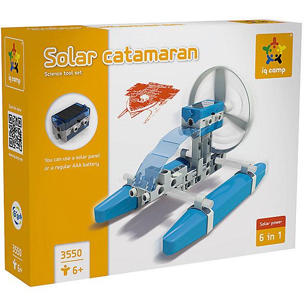 Конструктор Катамаран на солнечной энергииНаборы для робототехники<br>Из Конструктора Gigo Solar Catamaran (Гиго. Катамаран на солнечной энергии) можно собрать 6 различных моделей. Все модели демонстрируют принцип превращения солнечной энергии в механическую. Днем под яркими и прямыми солнечными лучами все модели работают от энергии солнца, в помещении и на улице в пасмурную погоду можно использовать батарейку. Конструкция катамарана такова, что он действительно может ходить по воде и с ним будет интересно играть как на реке, так и в ванне. В комплекте 44 детали.<br><br>Ширина мм: 60<br>Глубина мм: 220<br>Высота мм: 280<br>Вес г: 440<br>Возраст от месяцев: 36<br>Возраст до месяцев: 192<br>Пол: Унисекс<br>Возраст: Детский<br>SKU: 5324992