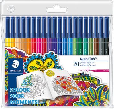 Staedtler Набор фломастеров Noris Club, 20 цветов, специальное издание Colour your moments!