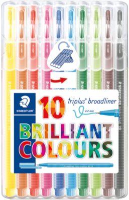 Набор капиллярных ручек Triplus, 10 цветов, 0,8 мм, Staedtler, артикул:5325152 - Канцтовары
